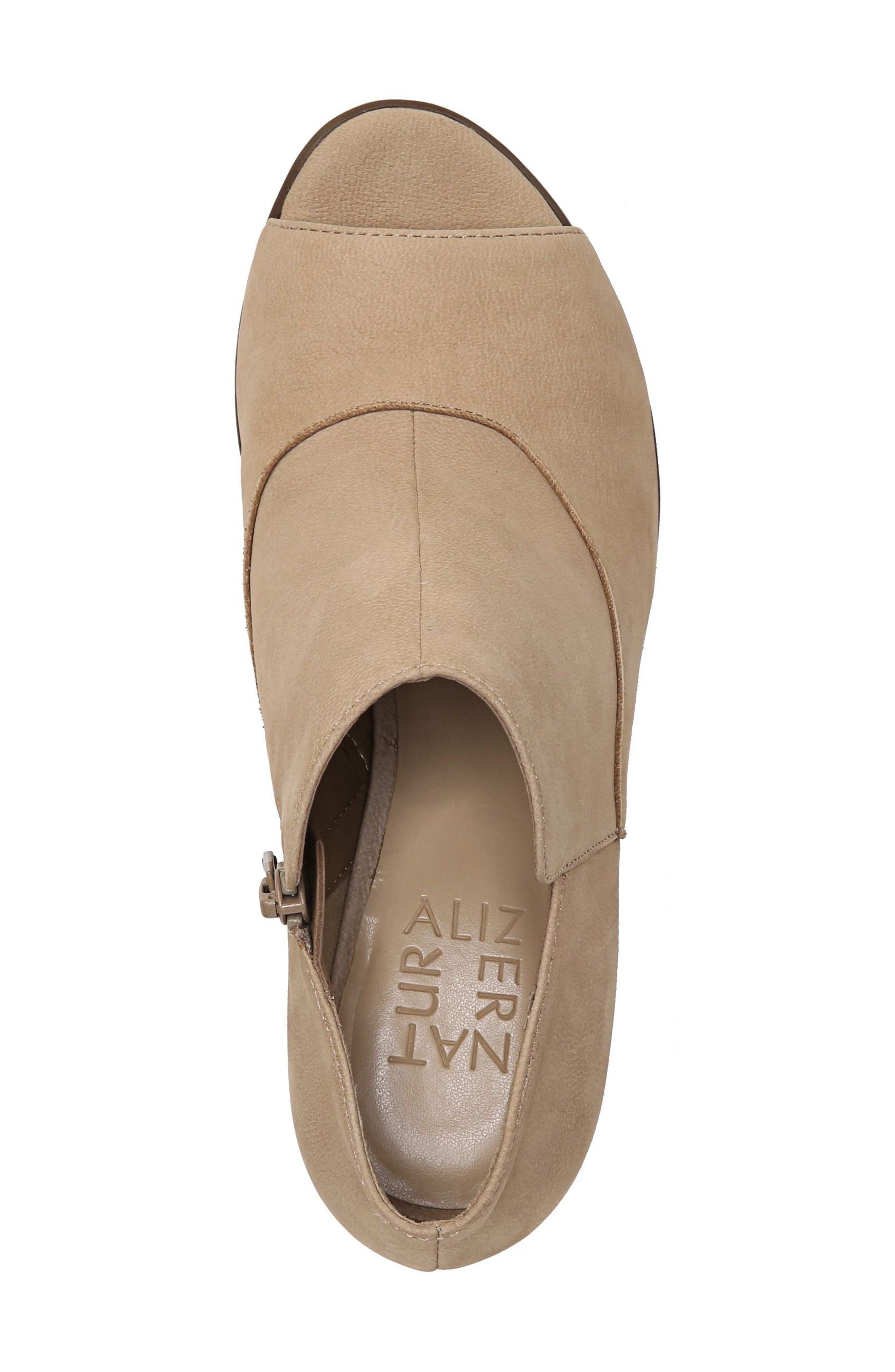 Skylar Open Toe Bootie,                             Alternate thumbnail 5, color,                             Barley Nubuck