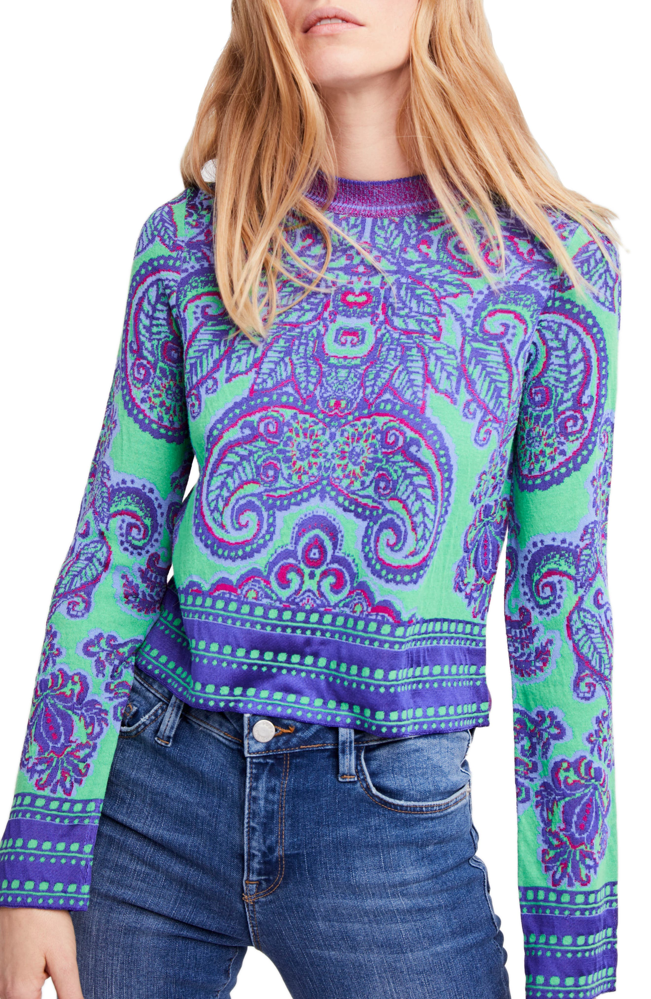 New Age Crewneck Sweater,                             Main thumbnail 1, color,                             Multi
