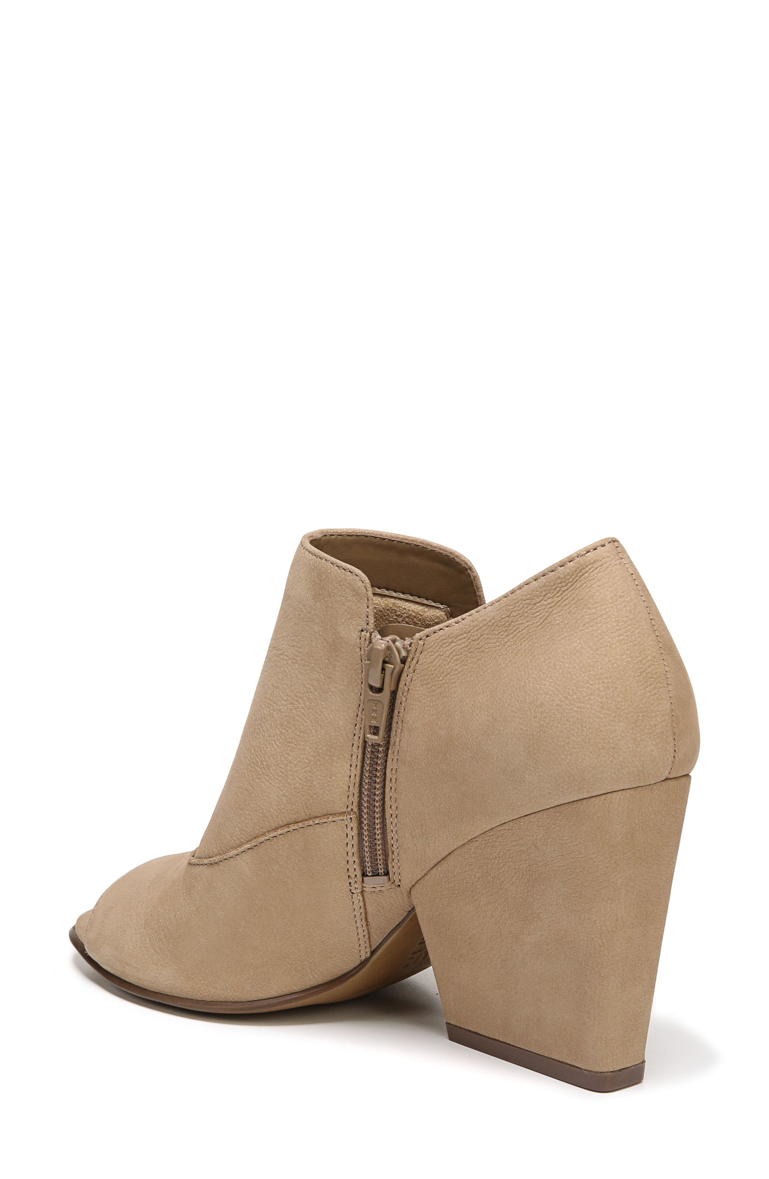 Skylar Open Toe Bootie,                             Alternate thumbnail 2, color,                             Barley Nubuck