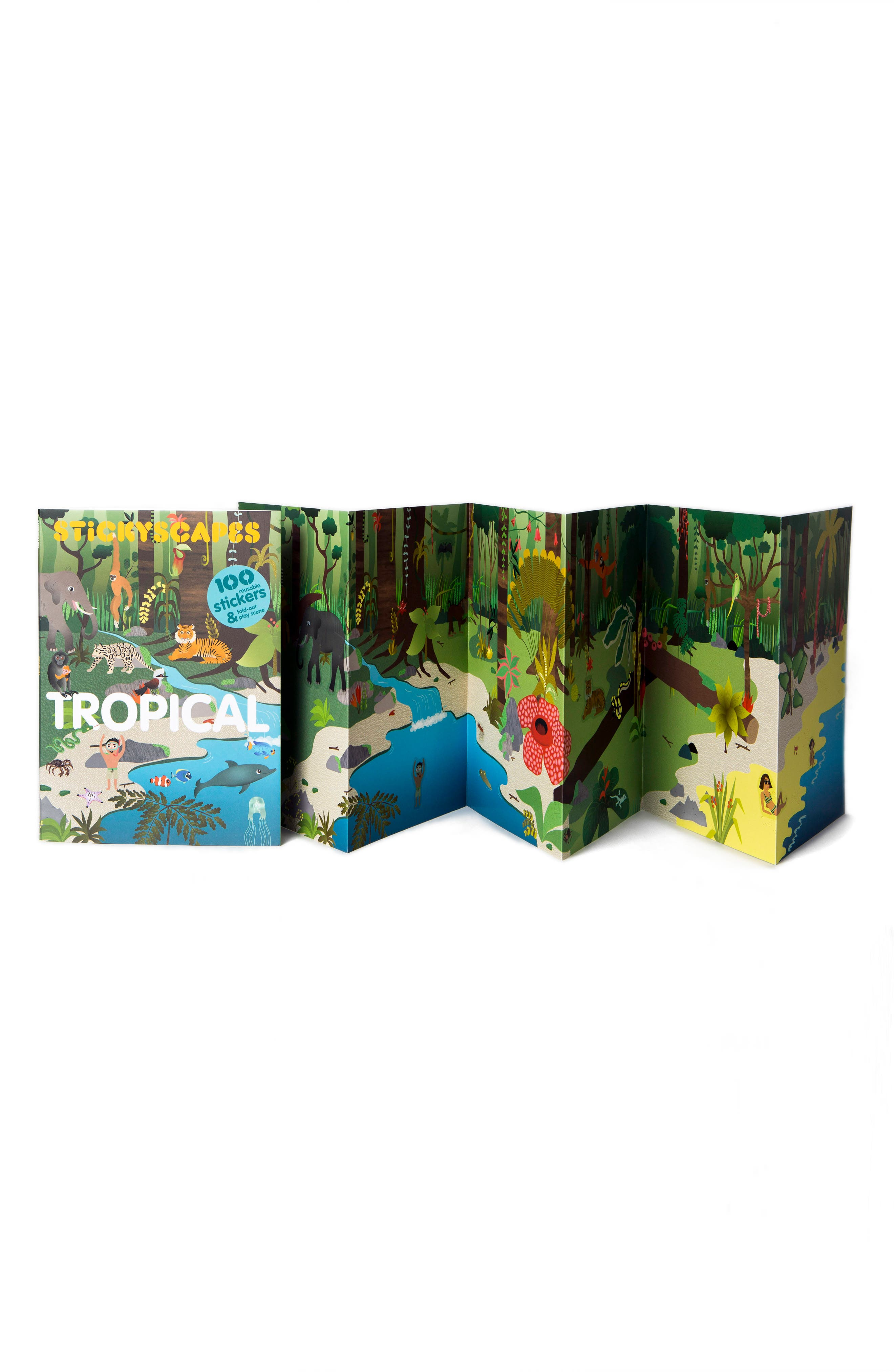 Alternate Image 3  - 'Stickyscapes: Tropical' Adventure Activity Sticker Book