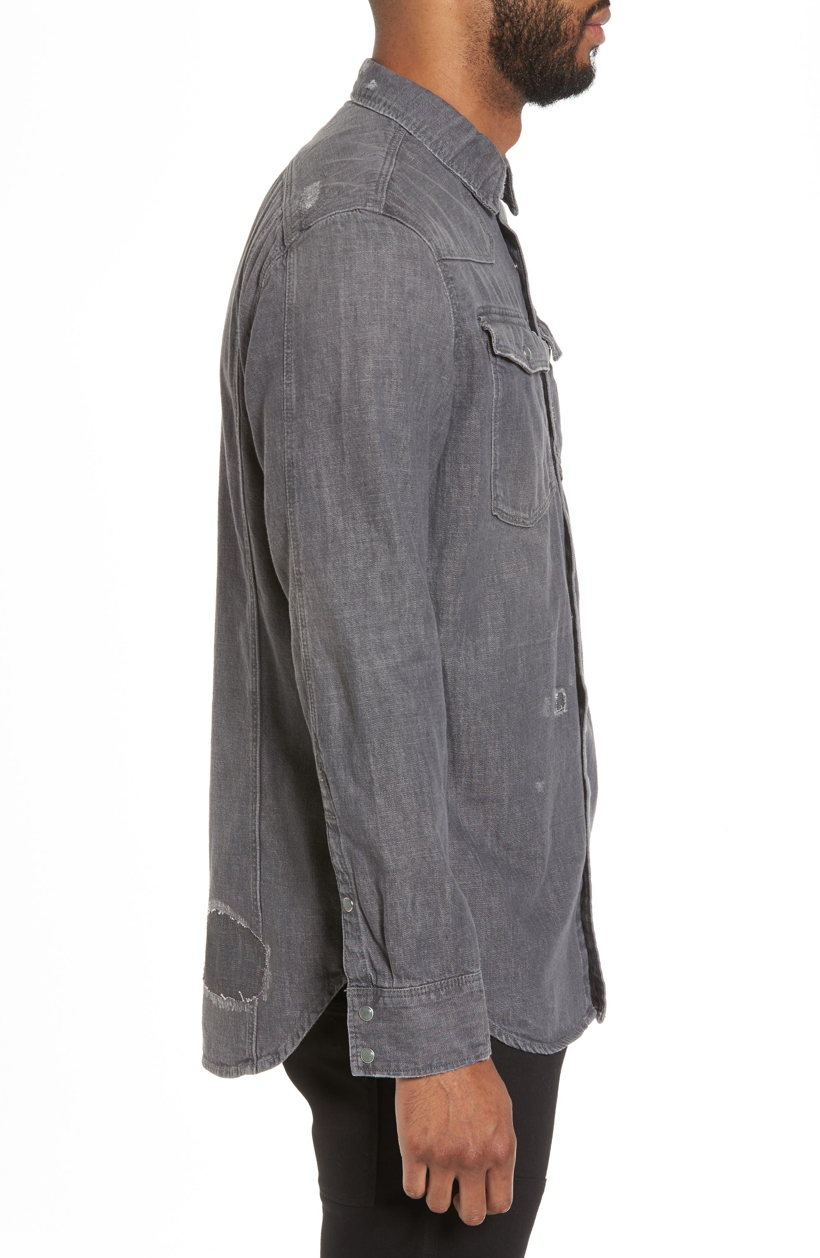 3301 Craser Denim Shirt,                             Alternate thumbnail 3, color,                             Medium Aged Restored