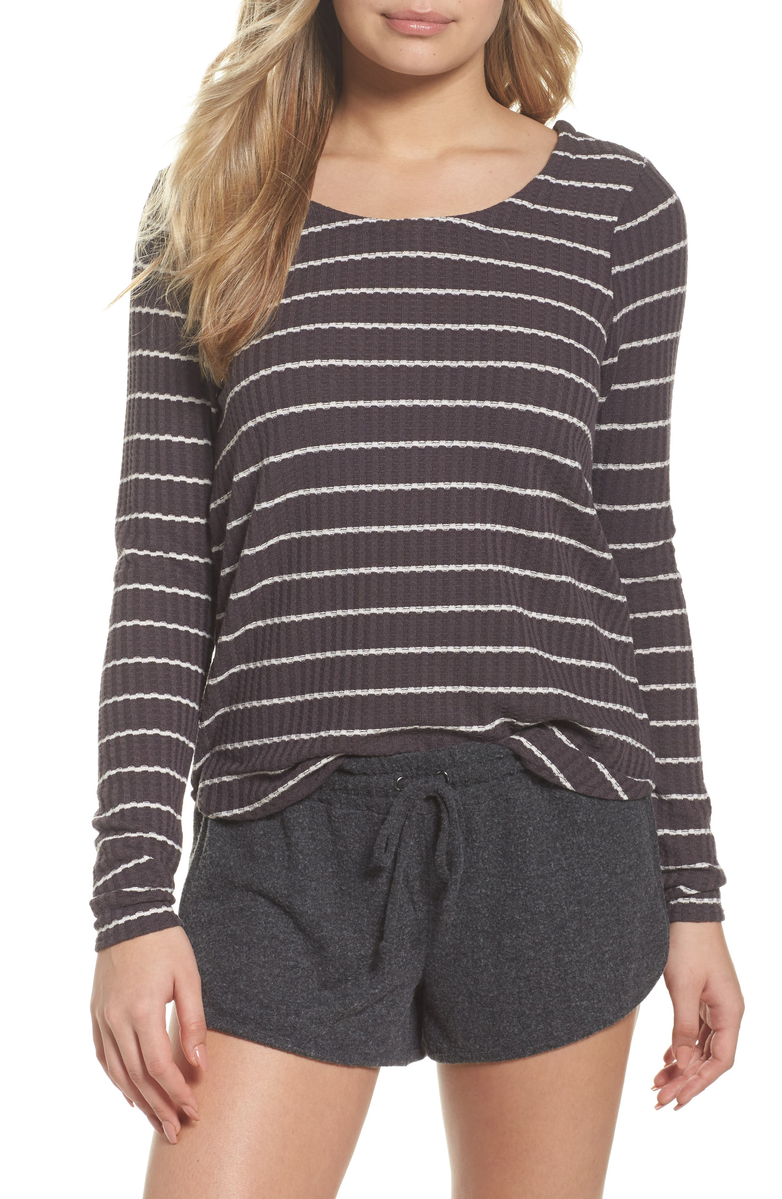 Thermal Knit Tee,                             Main thumbnail 1, color,                             Stripe