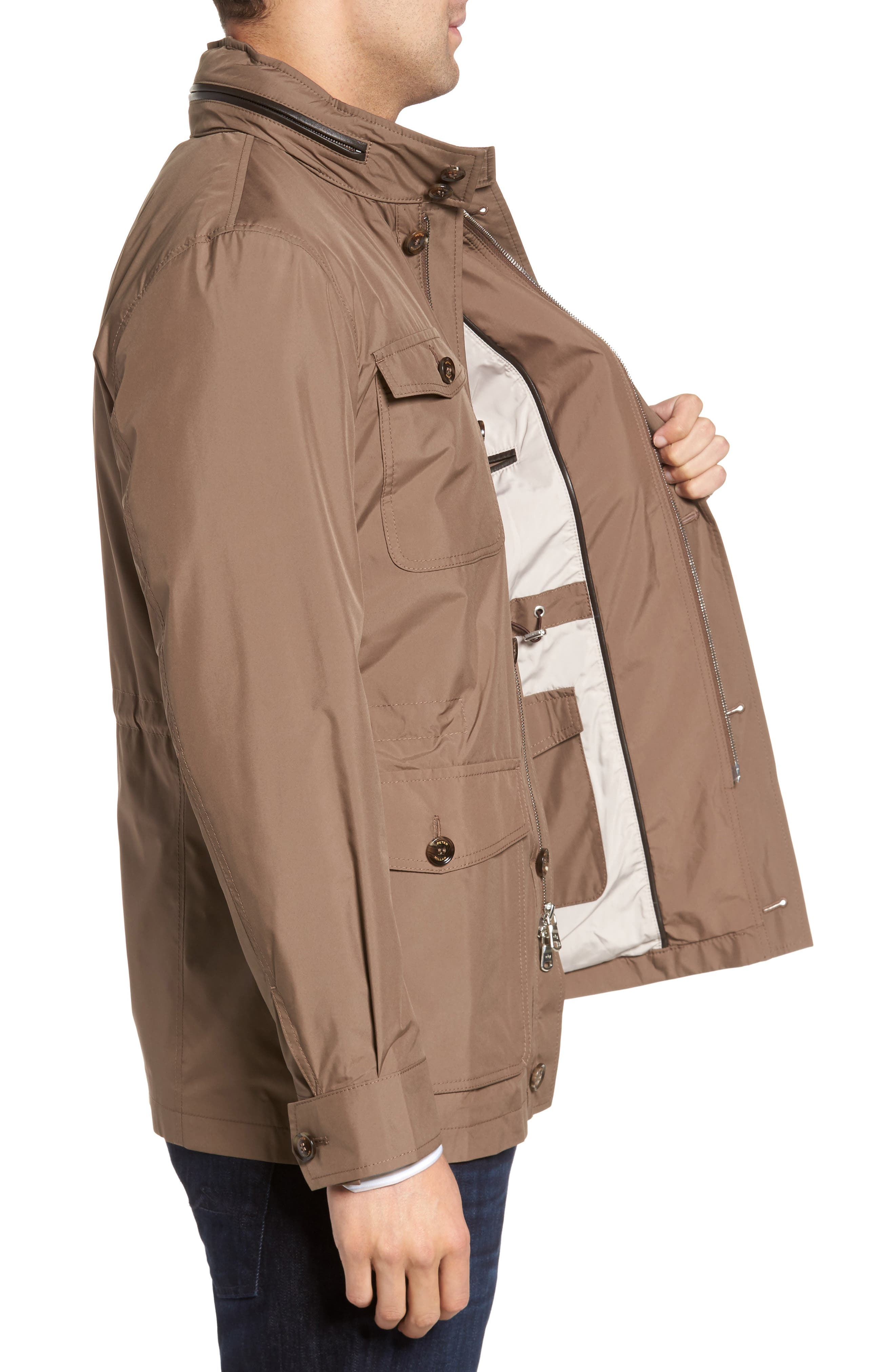 All Weather Discovery Jacket,                             Alternate thumbnail 3, color,                             Dune Surf