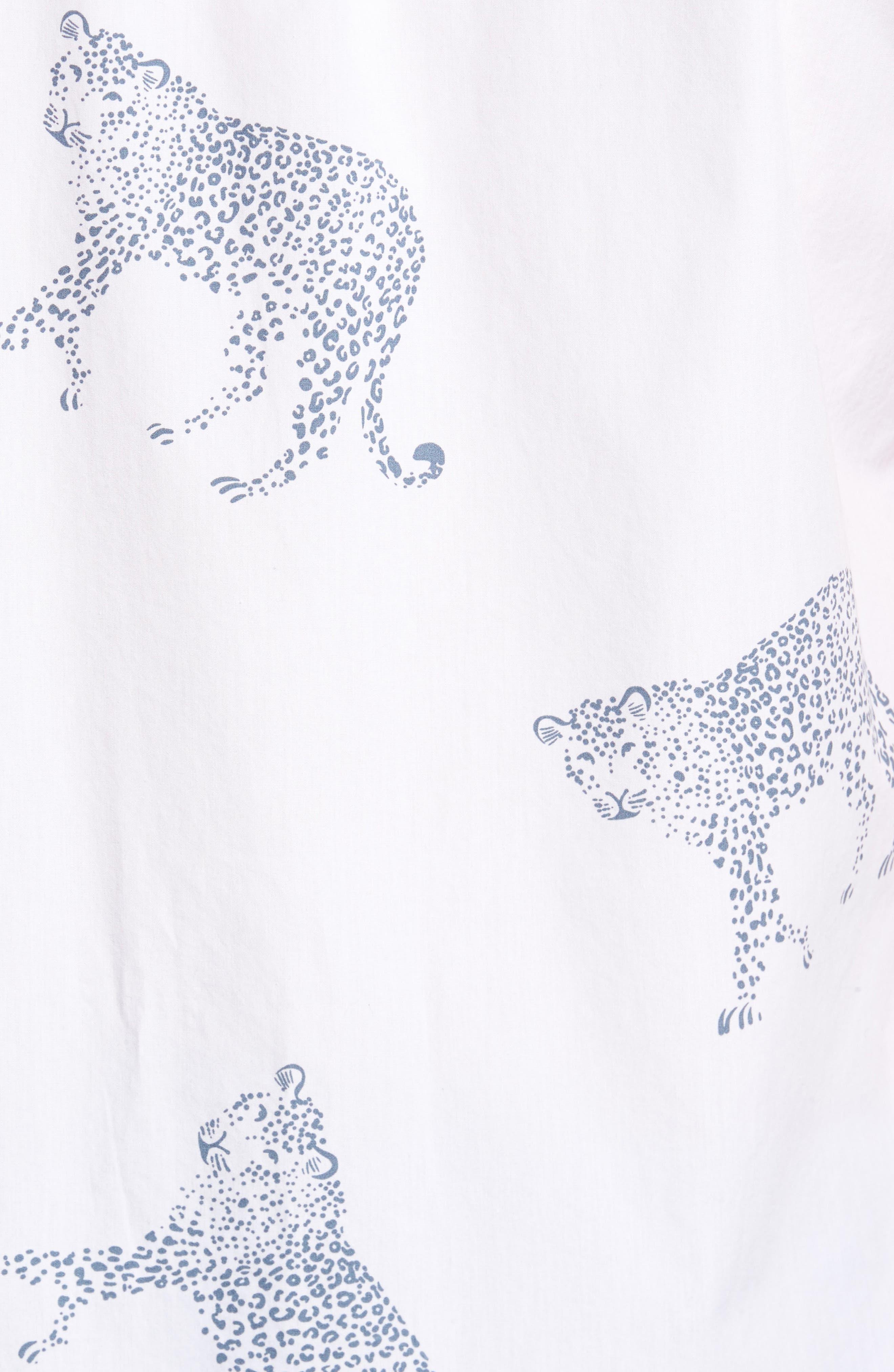 Slim Fit Cheetah Print Sport Shirt,                             Alternate thumbnail 5, color,                             Cheetah Print