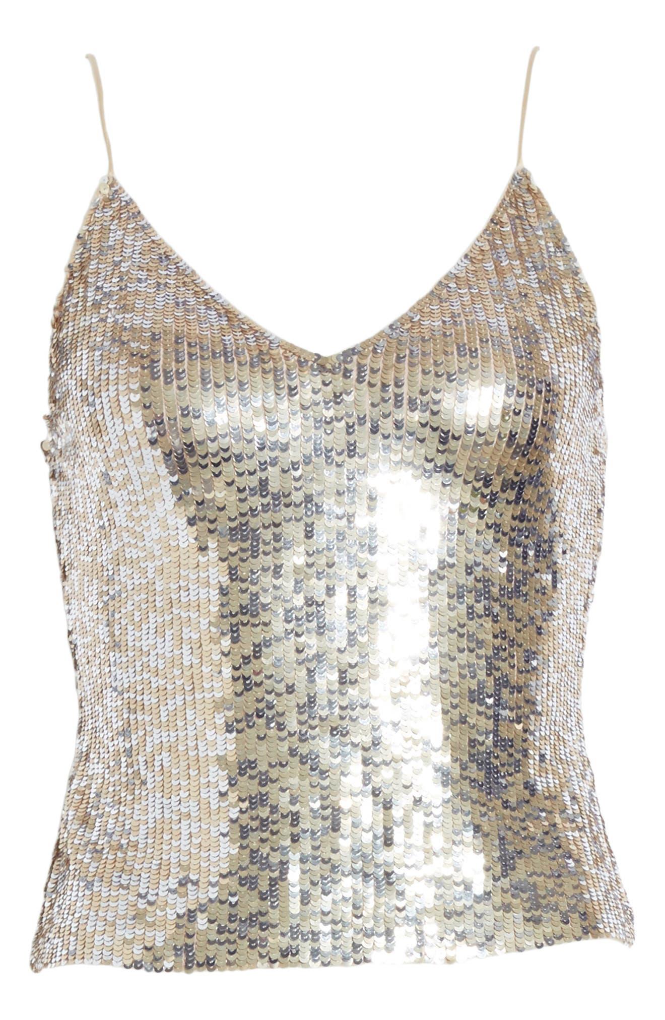 Alternate Image 6  - Alice + Olivia Delray Sequin Embellished Camisole