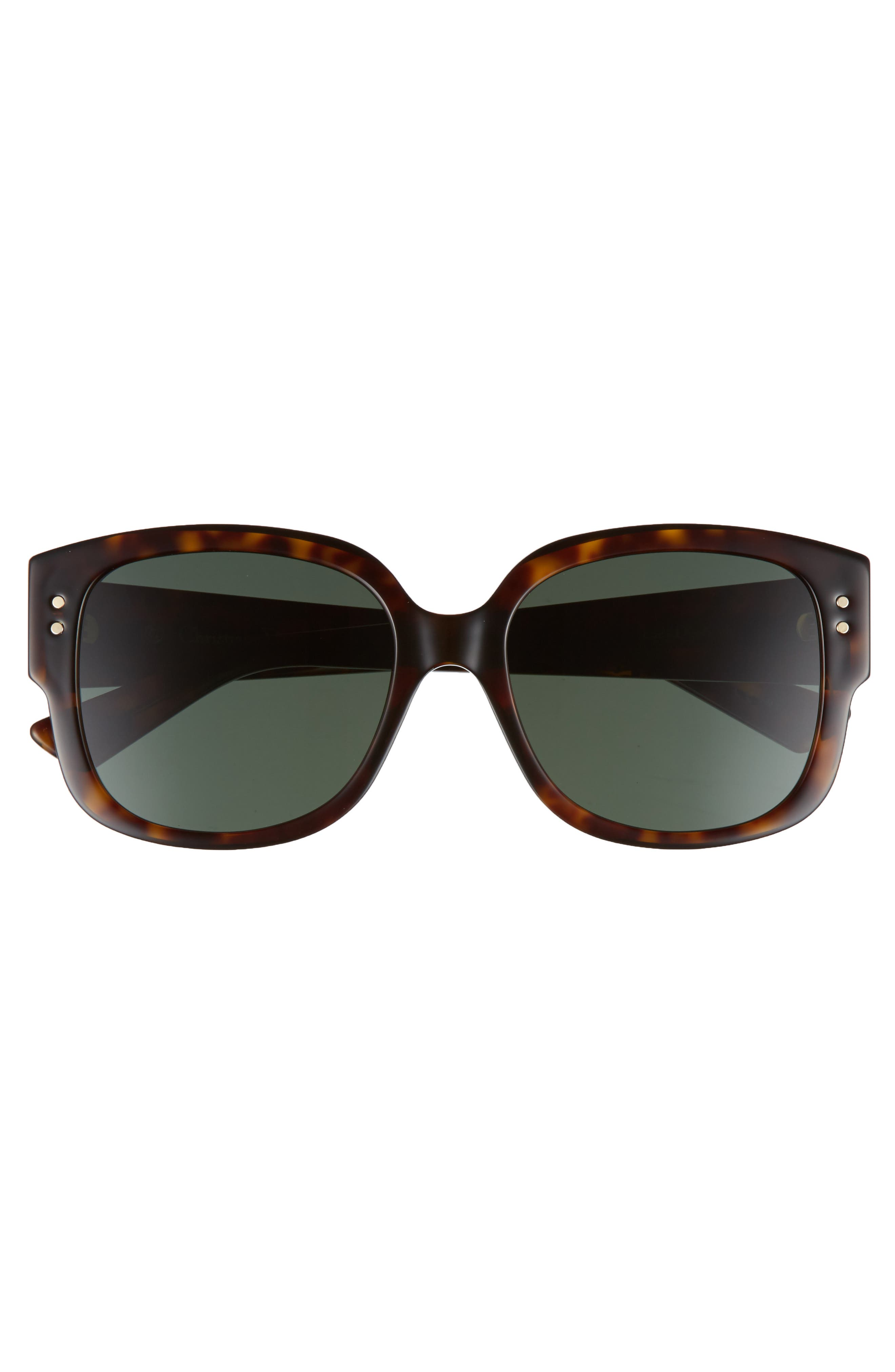 Square 54mm Sunglasses,                             Alternate thumbnail 3, color,                             Dark Havana