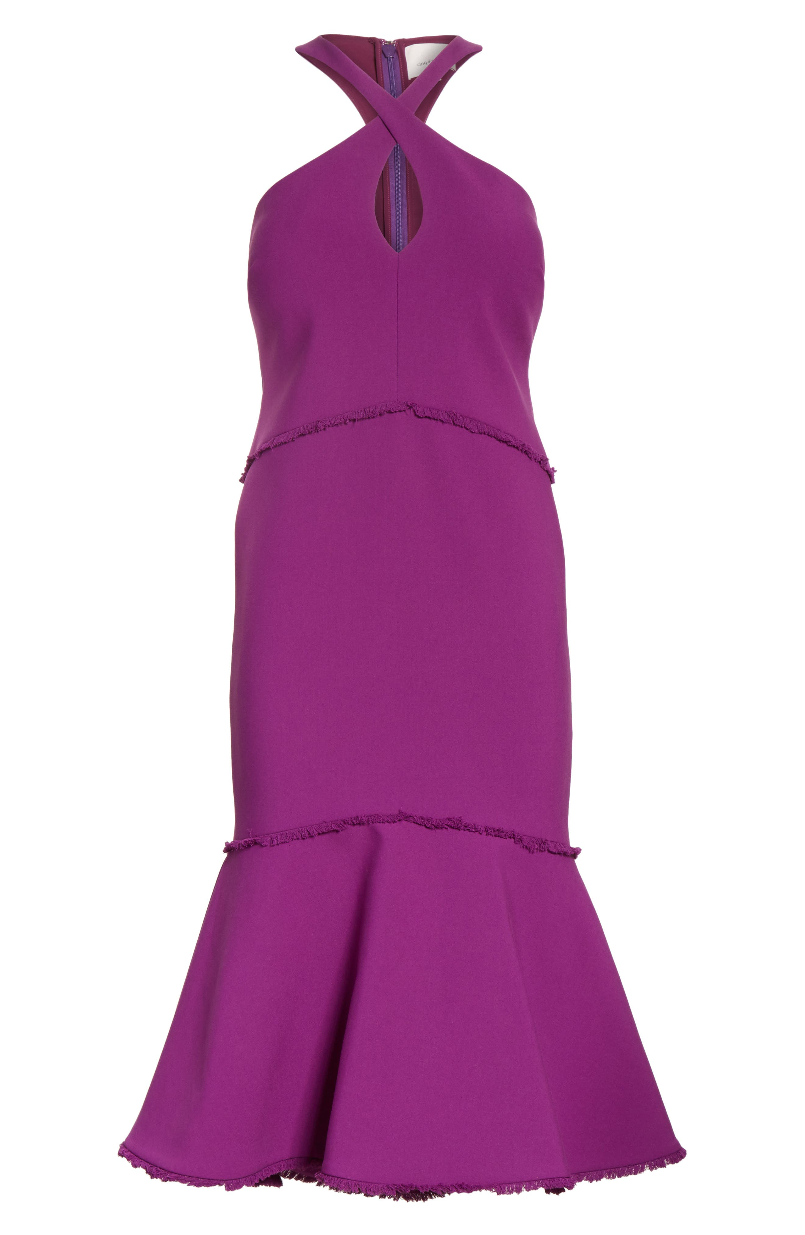 Dante Halter Dress,                             Alternate thumbnail 6, color,                             Amethyst