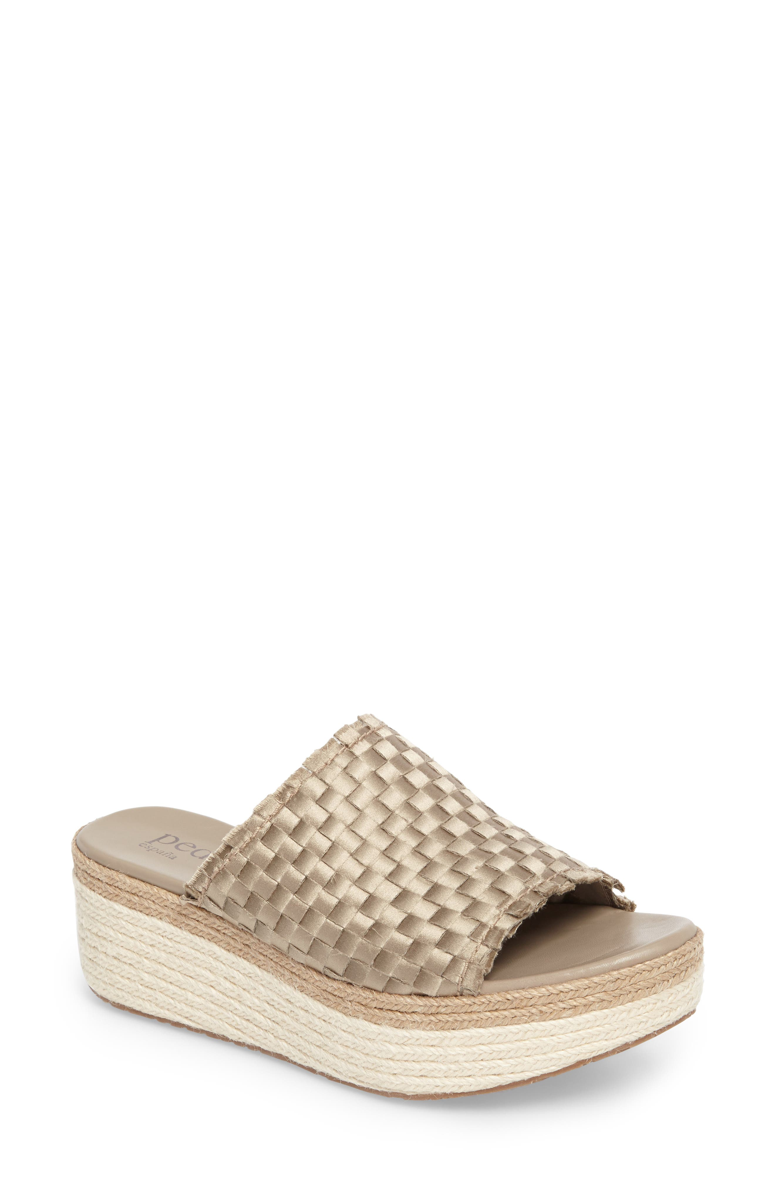 Noema Woven Espadrille Mule,                         Main,                         color, Twill Satin
