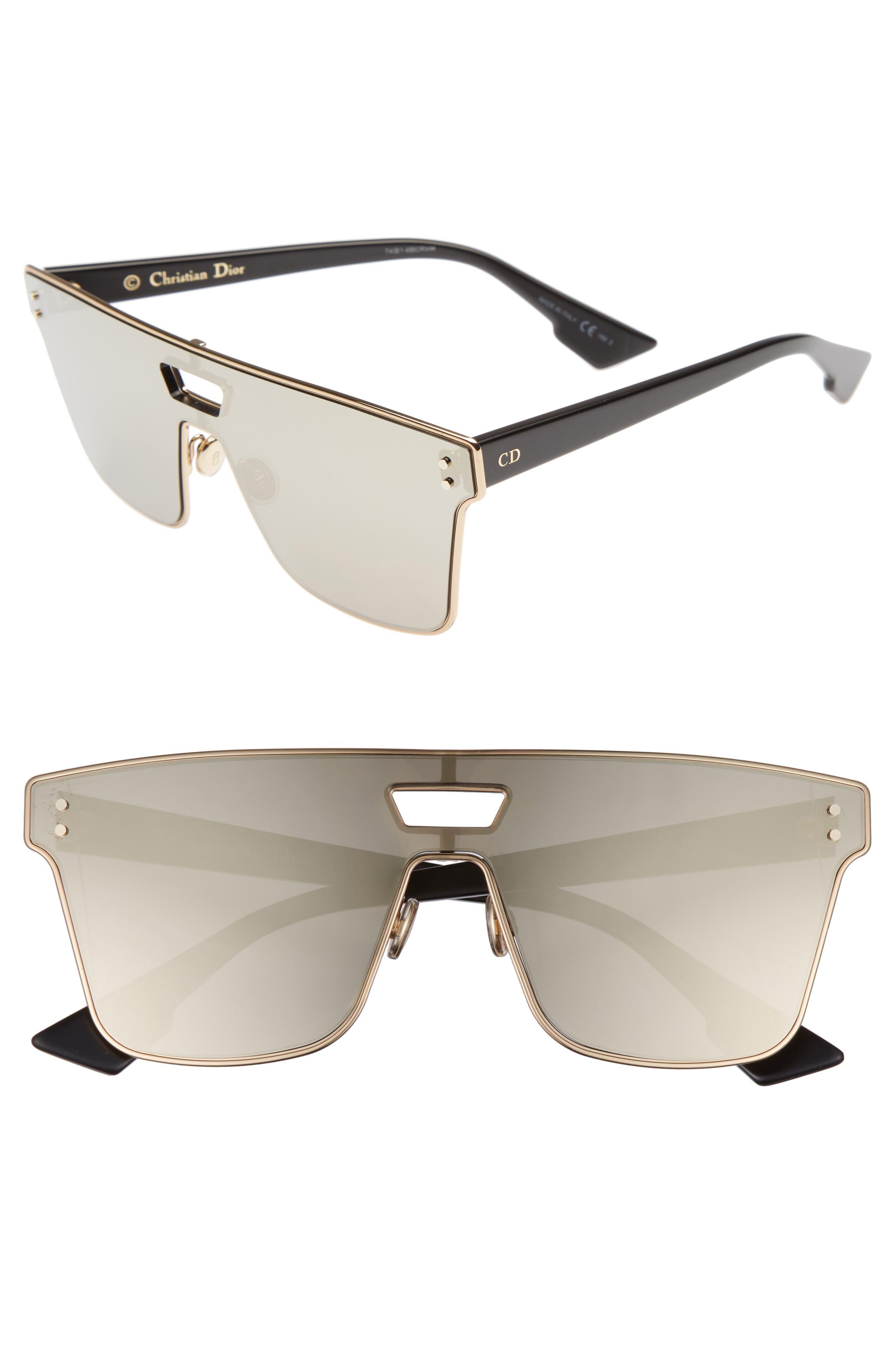 Shield Sunglasses,                         Main,                         color, Black Gold