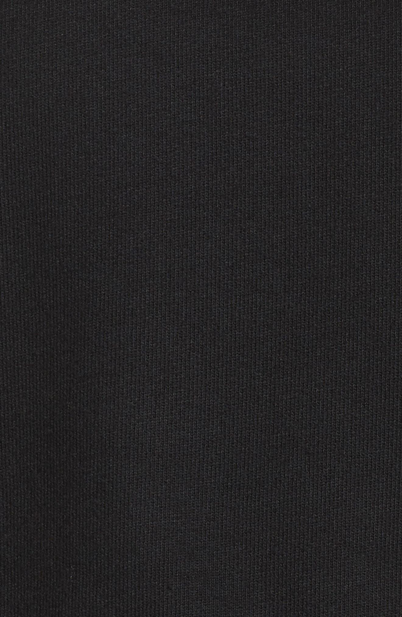 Peak Cutout Long Sleeve Pullover Crop Hoodie,                             Alternate thumbnail 7, color,                             Black