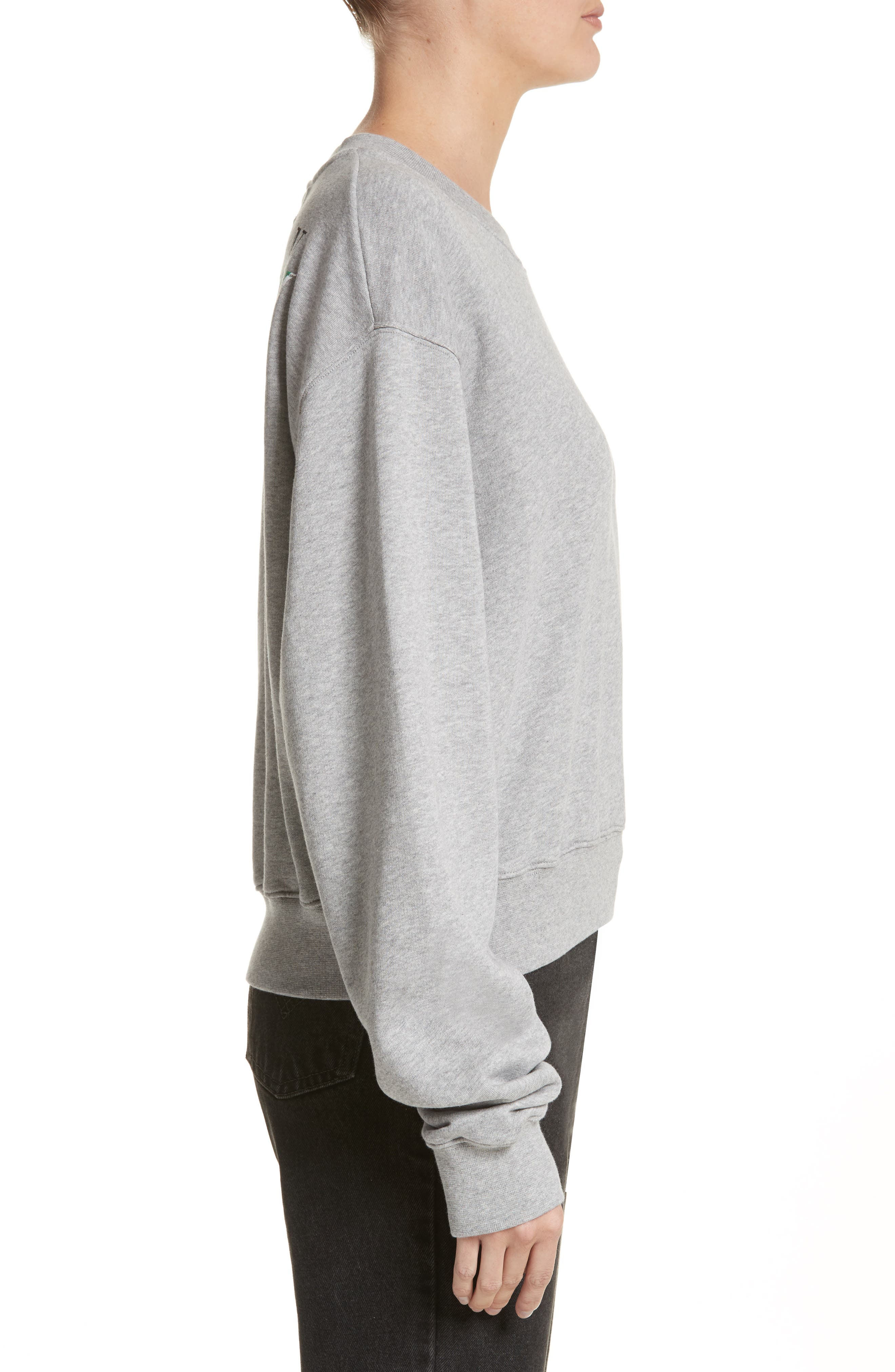 Alternate Image 3  - Off-White Woman Tape Crop Crewneck Sweater