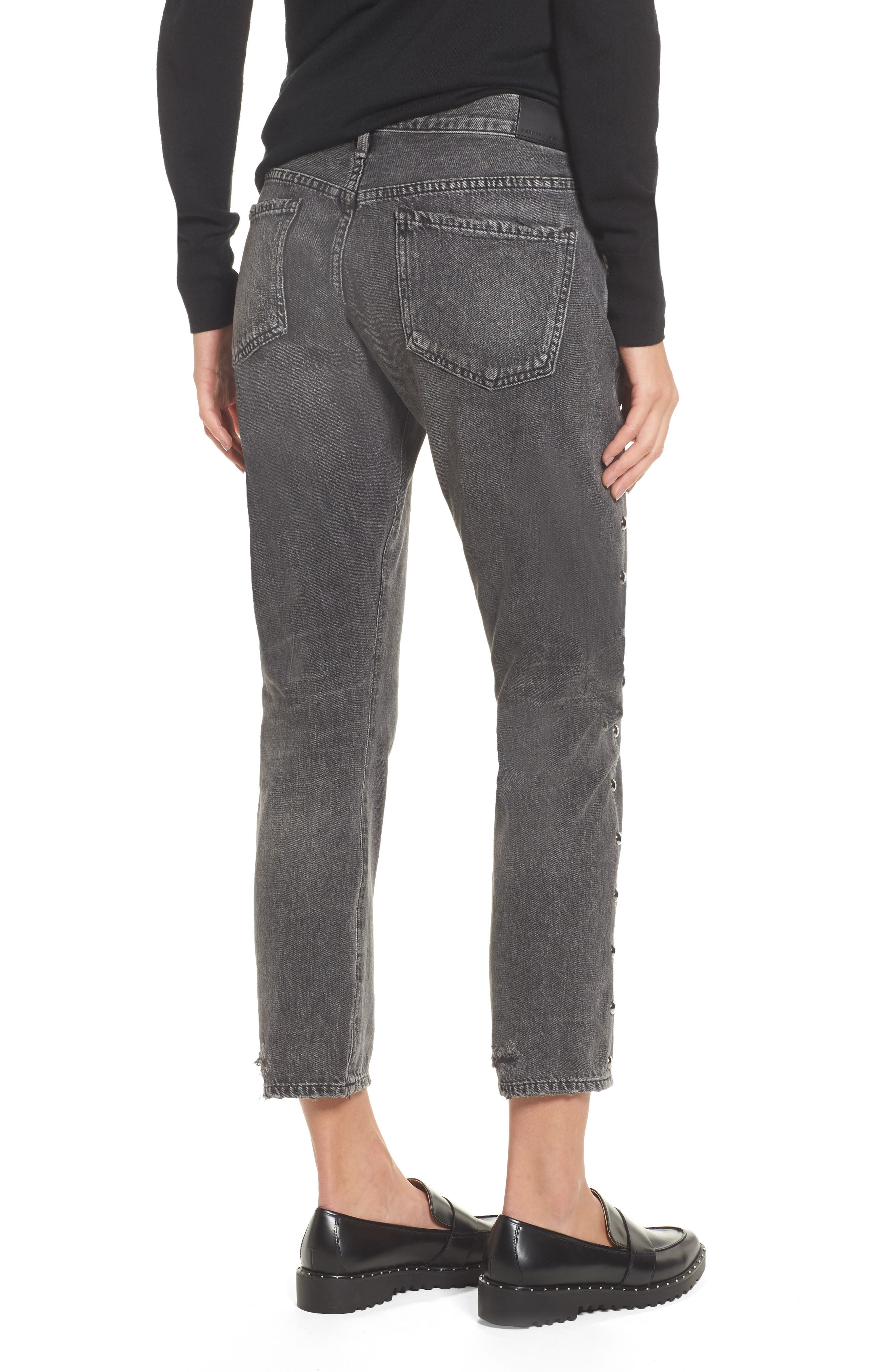 Alternate Image 2  - Citizens of Humanity Emerson Studded Slim Boyfriend Jeans (Studded Hideout)