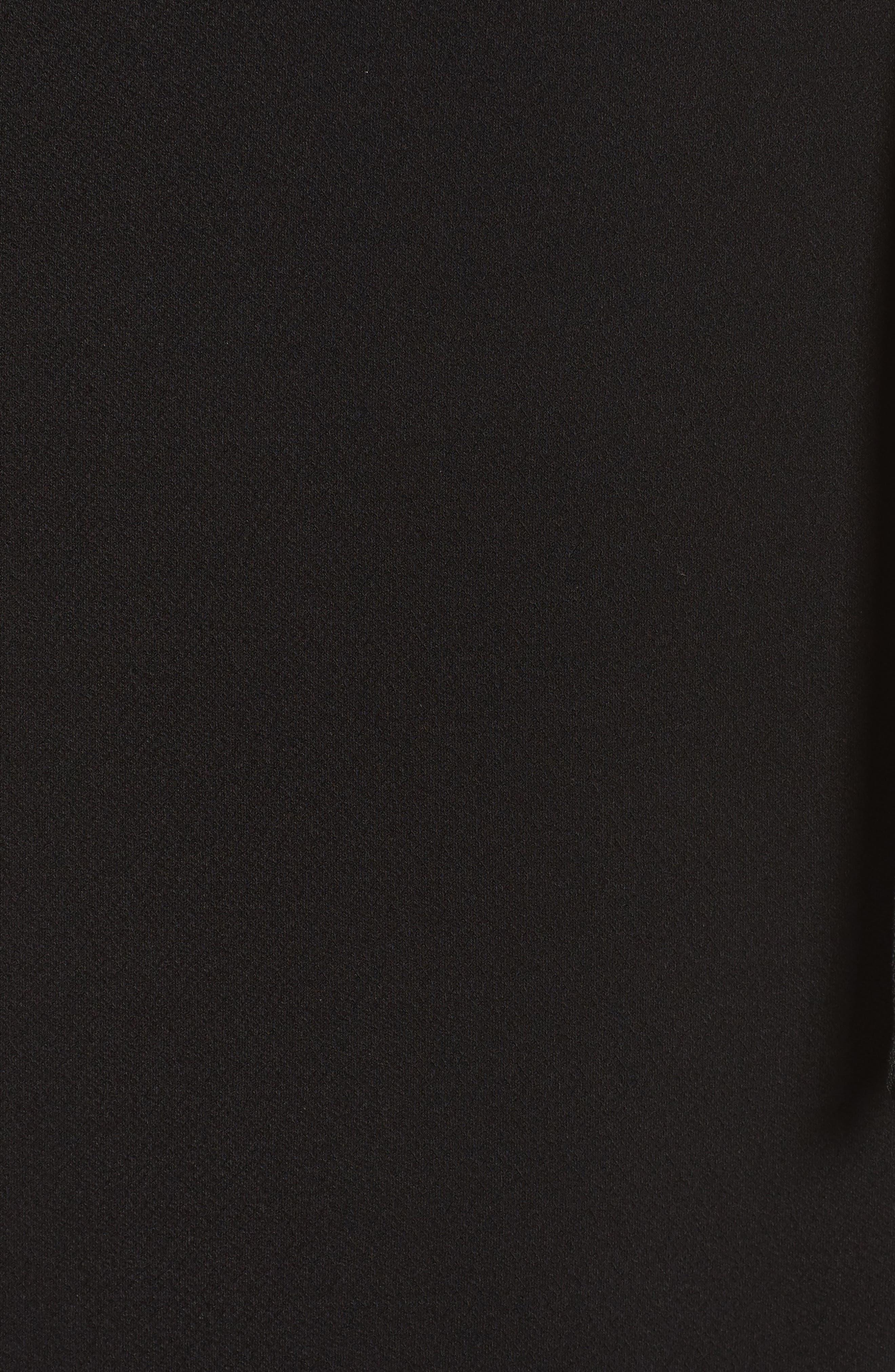 Perfect Wrap Maxi Dress,                             Alternate thumbnail 6, color,                             Black Crepe
