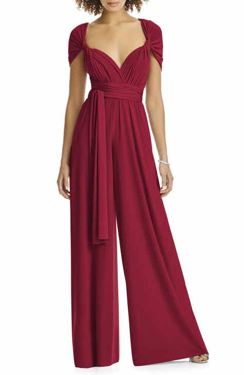 0ea697345a9d Dessy Collection Convertible Wide Leg Jersey Jumpsuit (Regular   Plus)