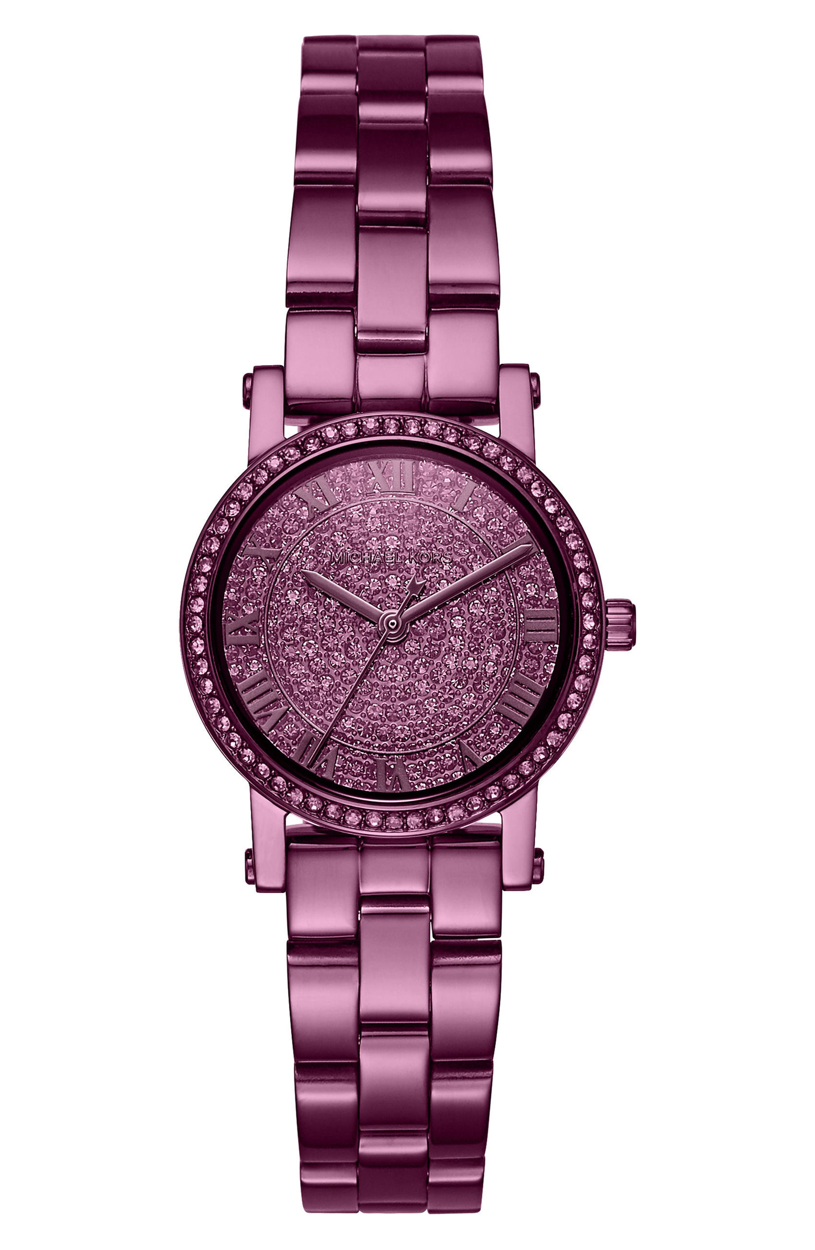 Michael Kors Petite Norie Pavé Bracelet Watch, 28mm