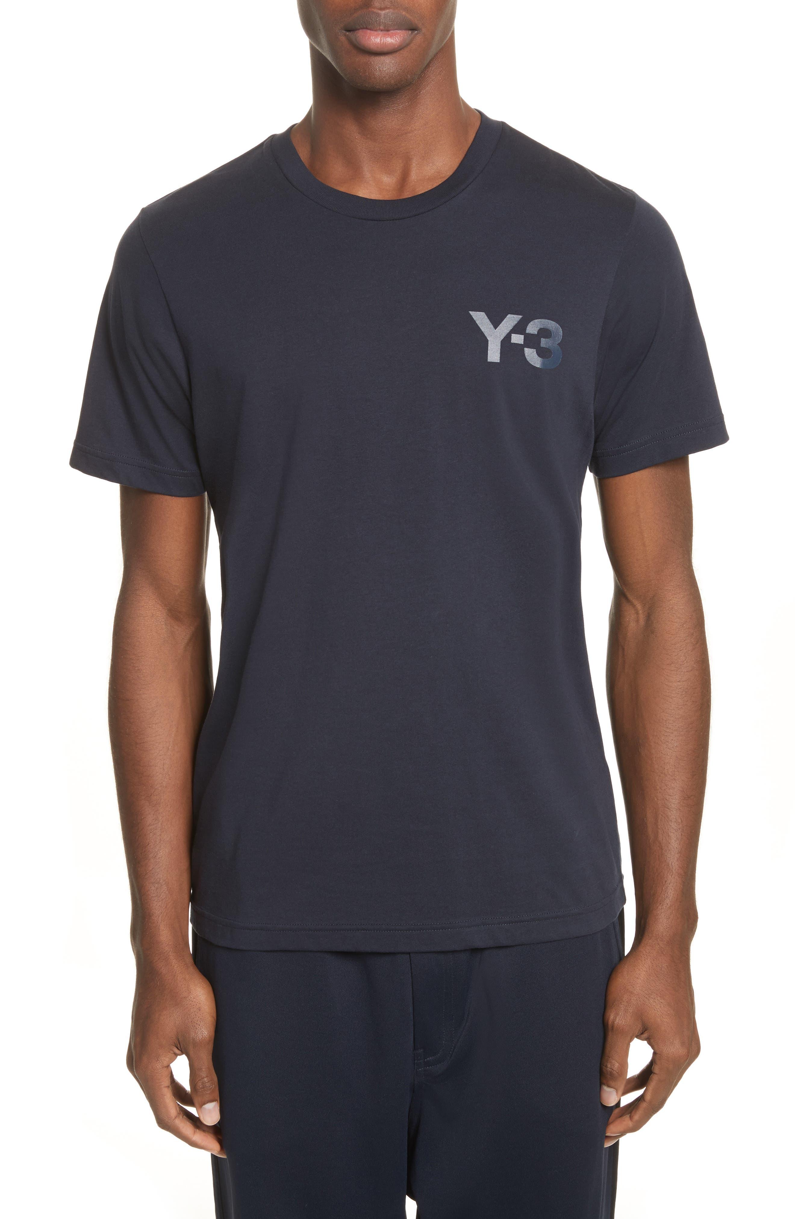 Logo Print T-Shirt,                         Main,                         color, Navy