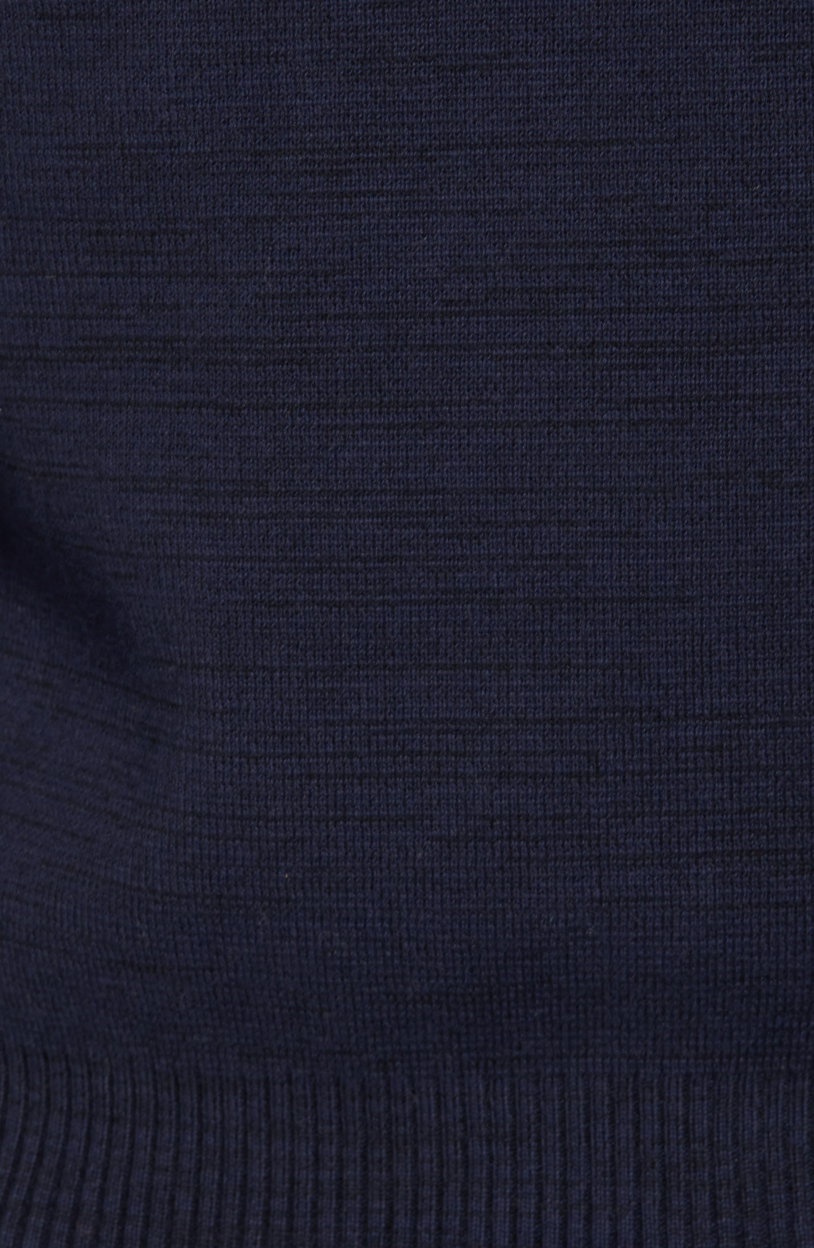 Empral Half-Zip Sweater,                             Alternate thumbnail 5, color,                             Blue/ Dark Black