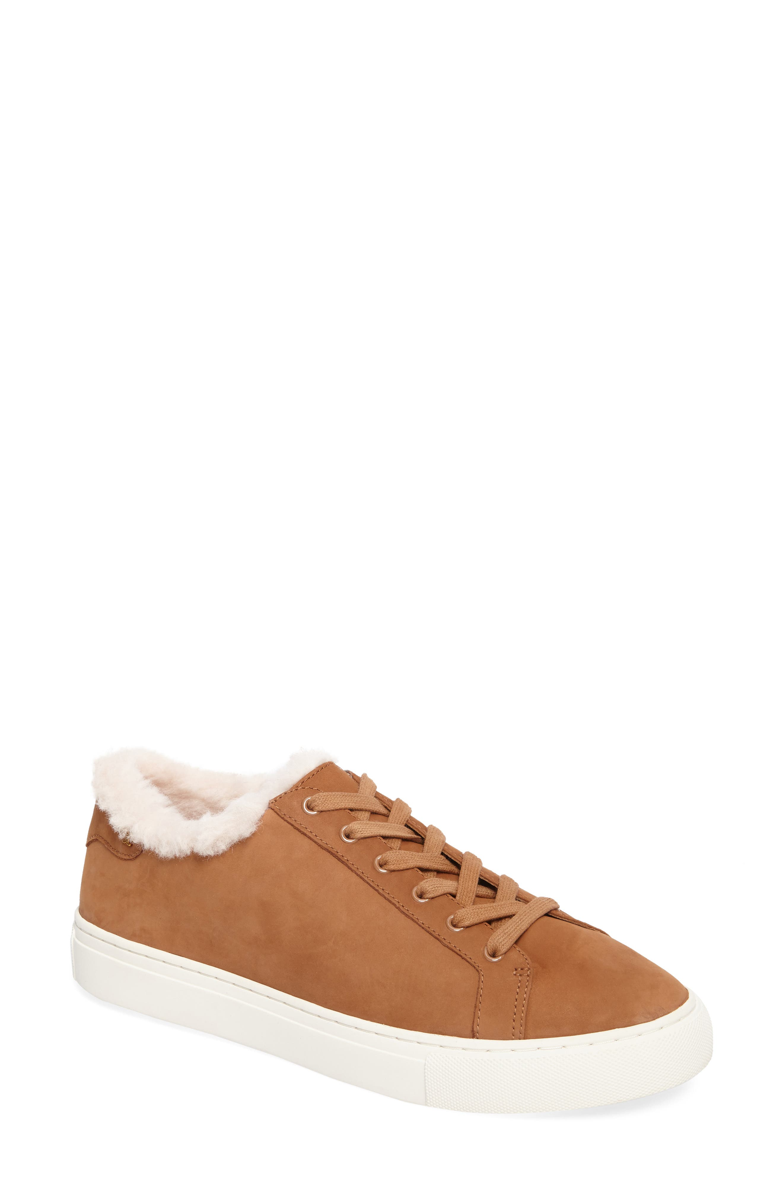 Tory Burch Lawrence Genuine Shearling Lined Sneaker (Women)