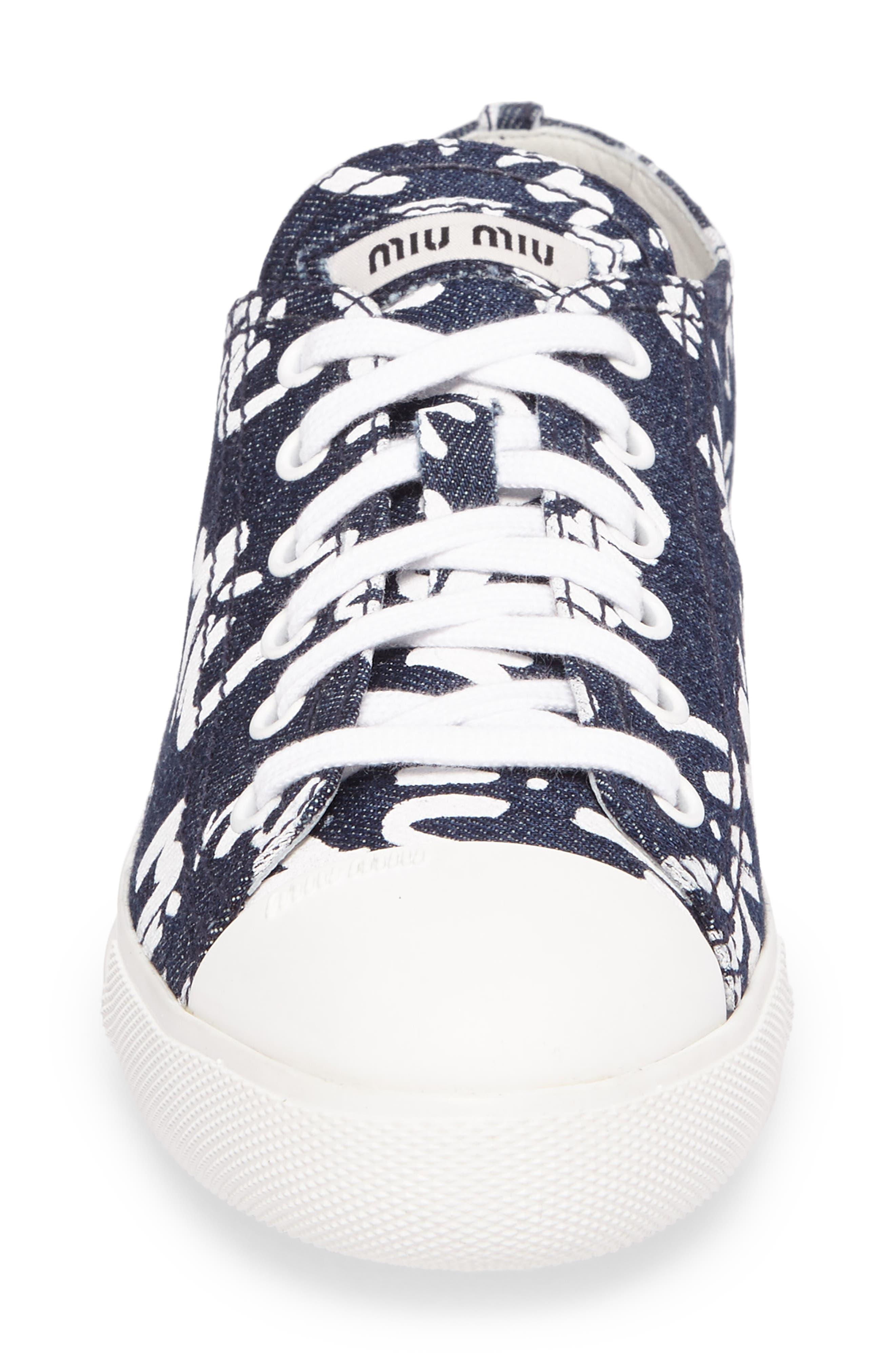 Logo Low Top Sneaker,                             Alternate thumbnail 4, color,                             Blue