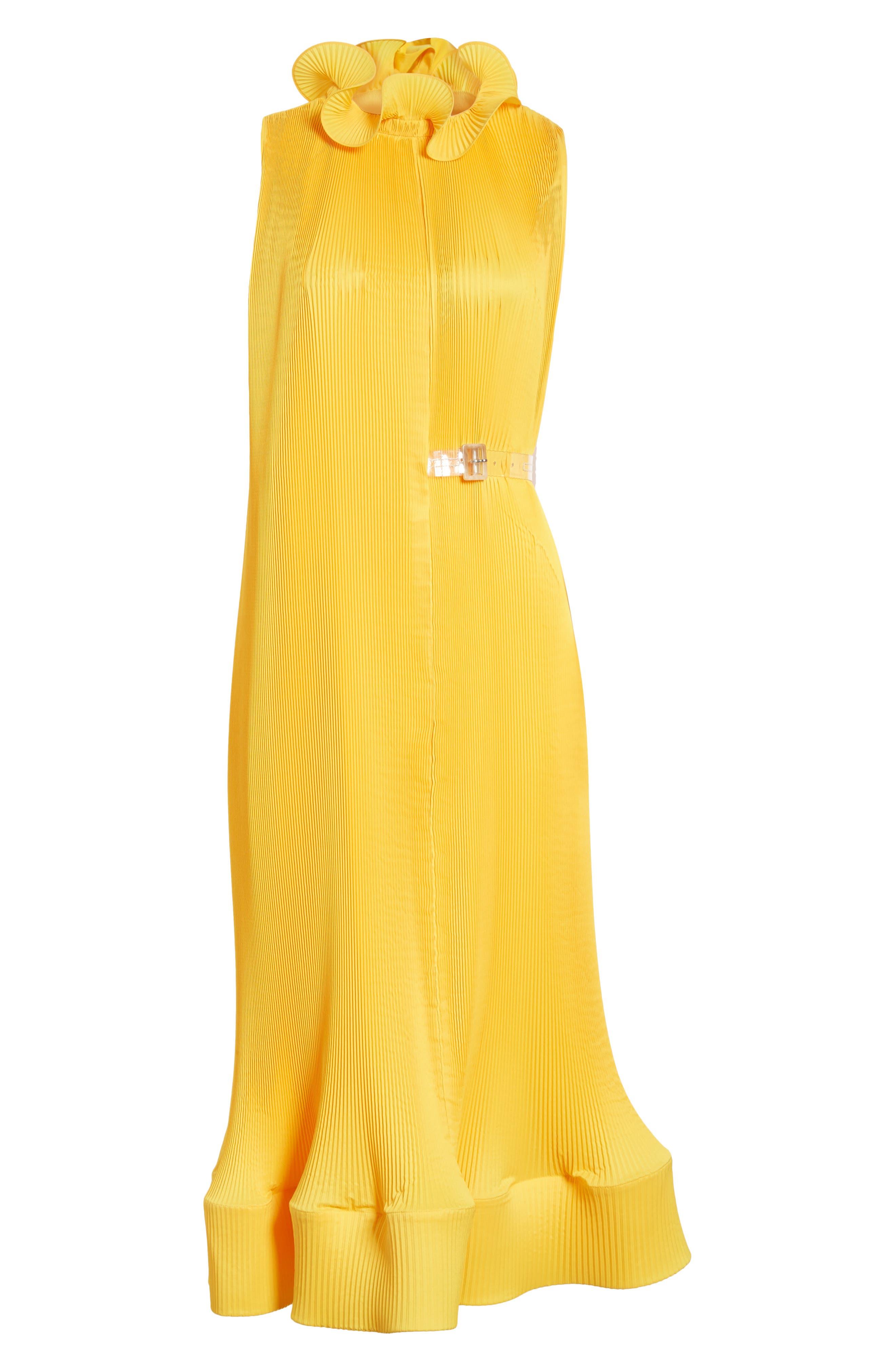 Asymmetrical Belted Dress,                             Alternate thumbnail 6, color,                             Sunray
