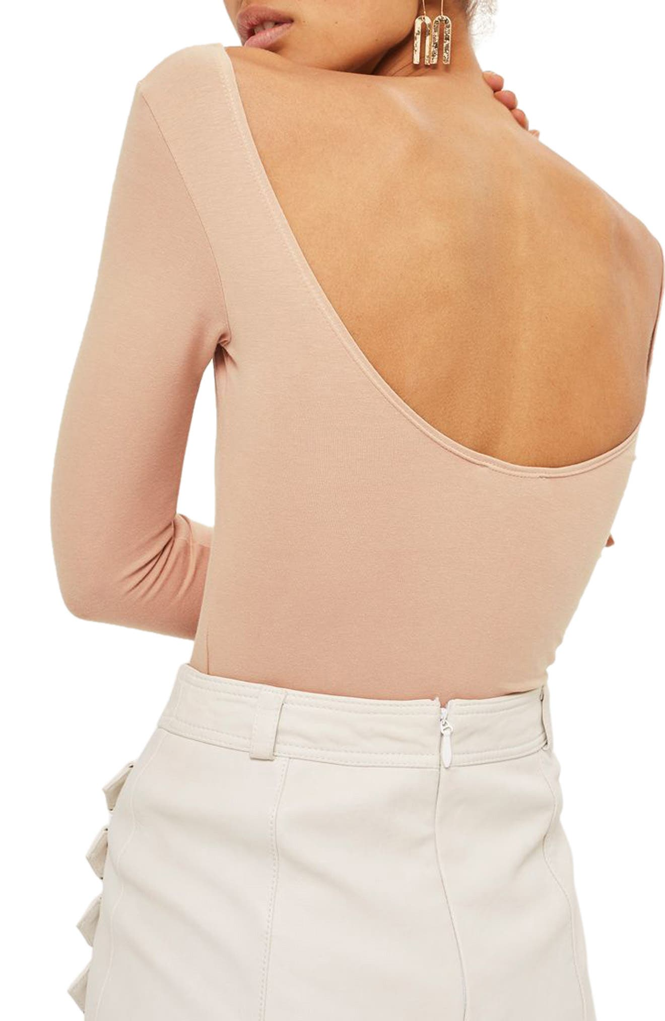 Alternate Image 2  - Topshop Stretch Cotton Long Sleeve Bodysuit