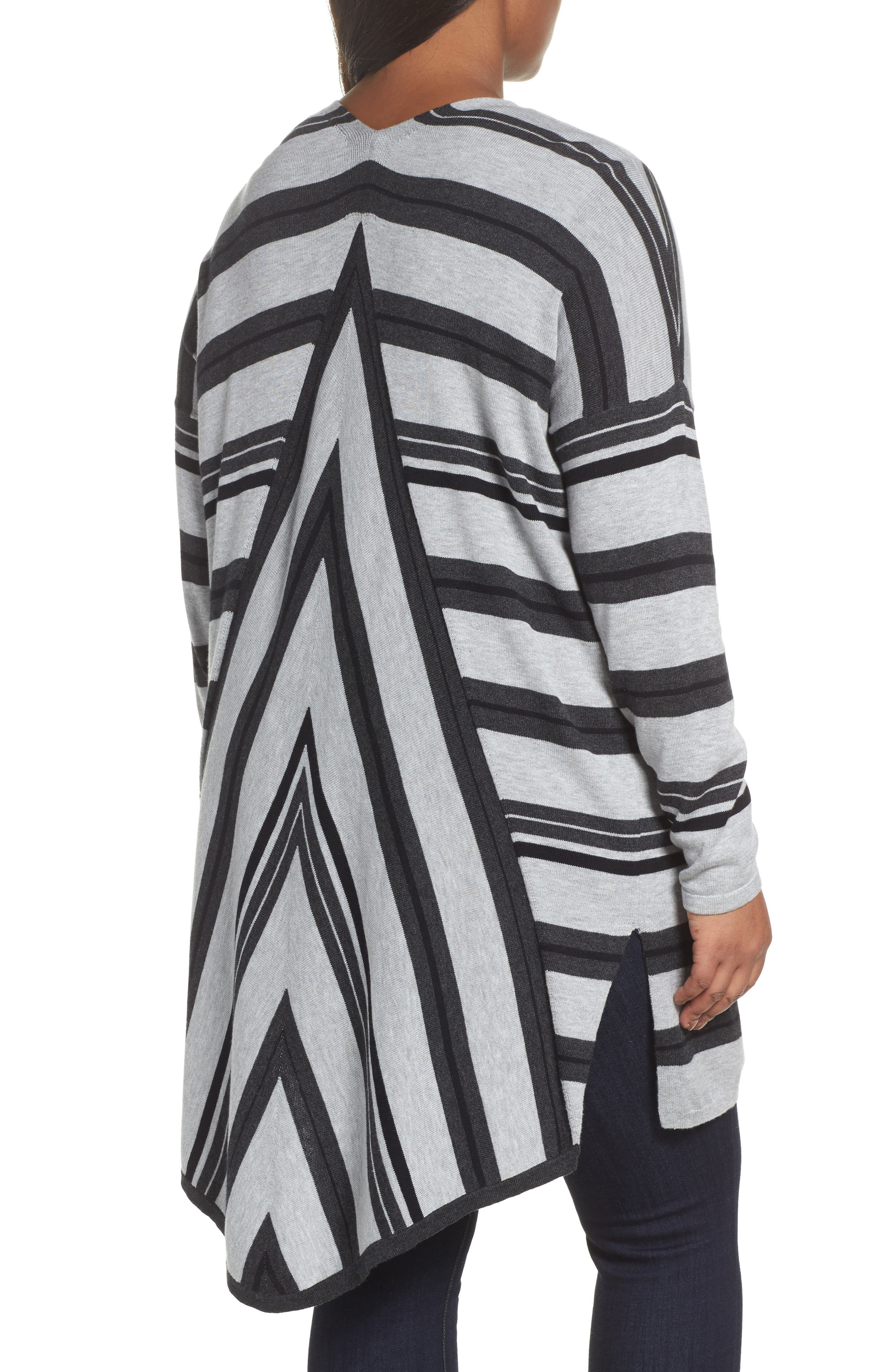 Alternate Image 2  - Vince Camuto Long Stripe Cardigan (Plus Size)