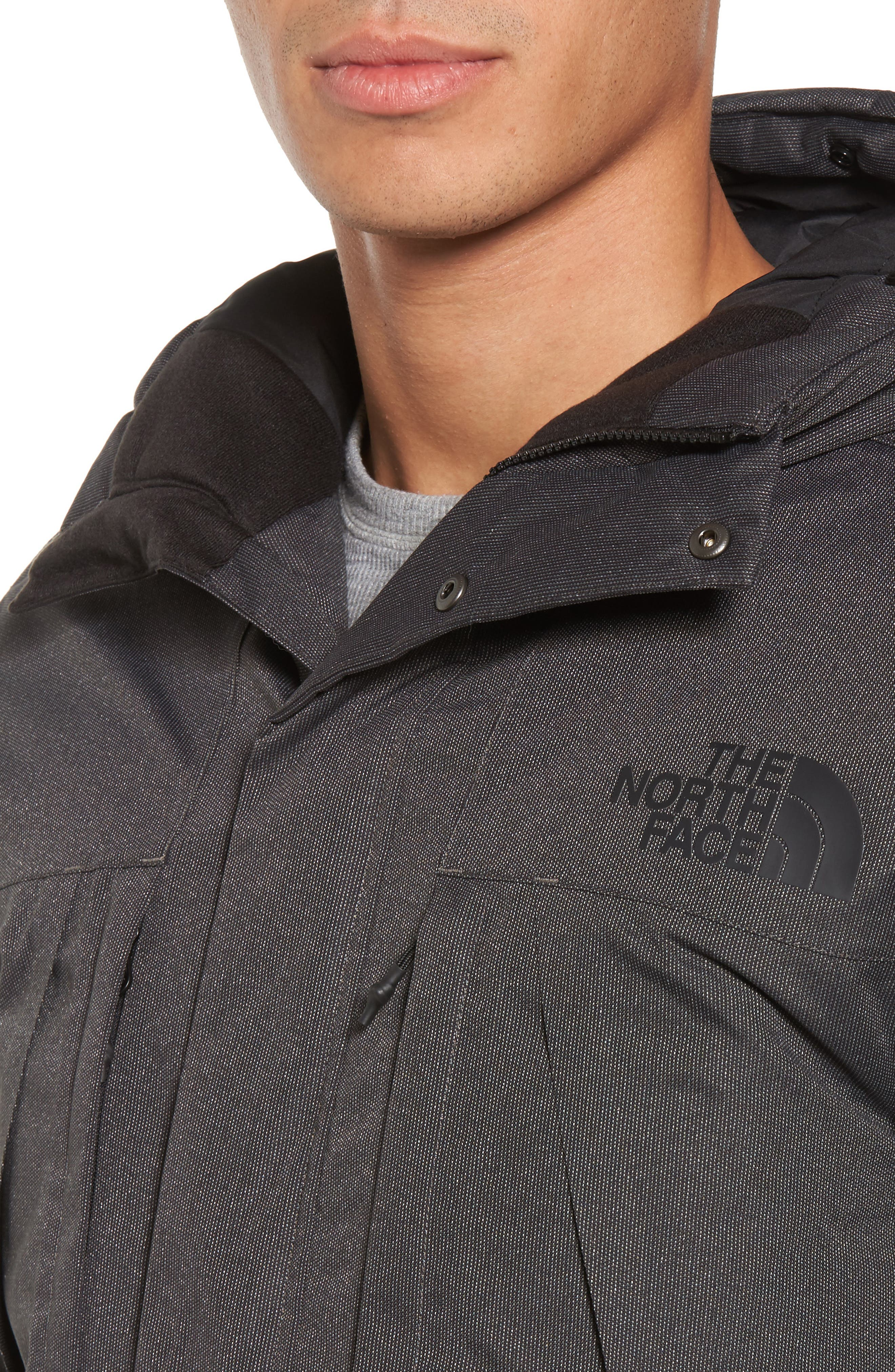 Outer Boroughs Waterproof Parka,                             Alternate thumbnail 4, color,                             Tnf Dark Grey Heather