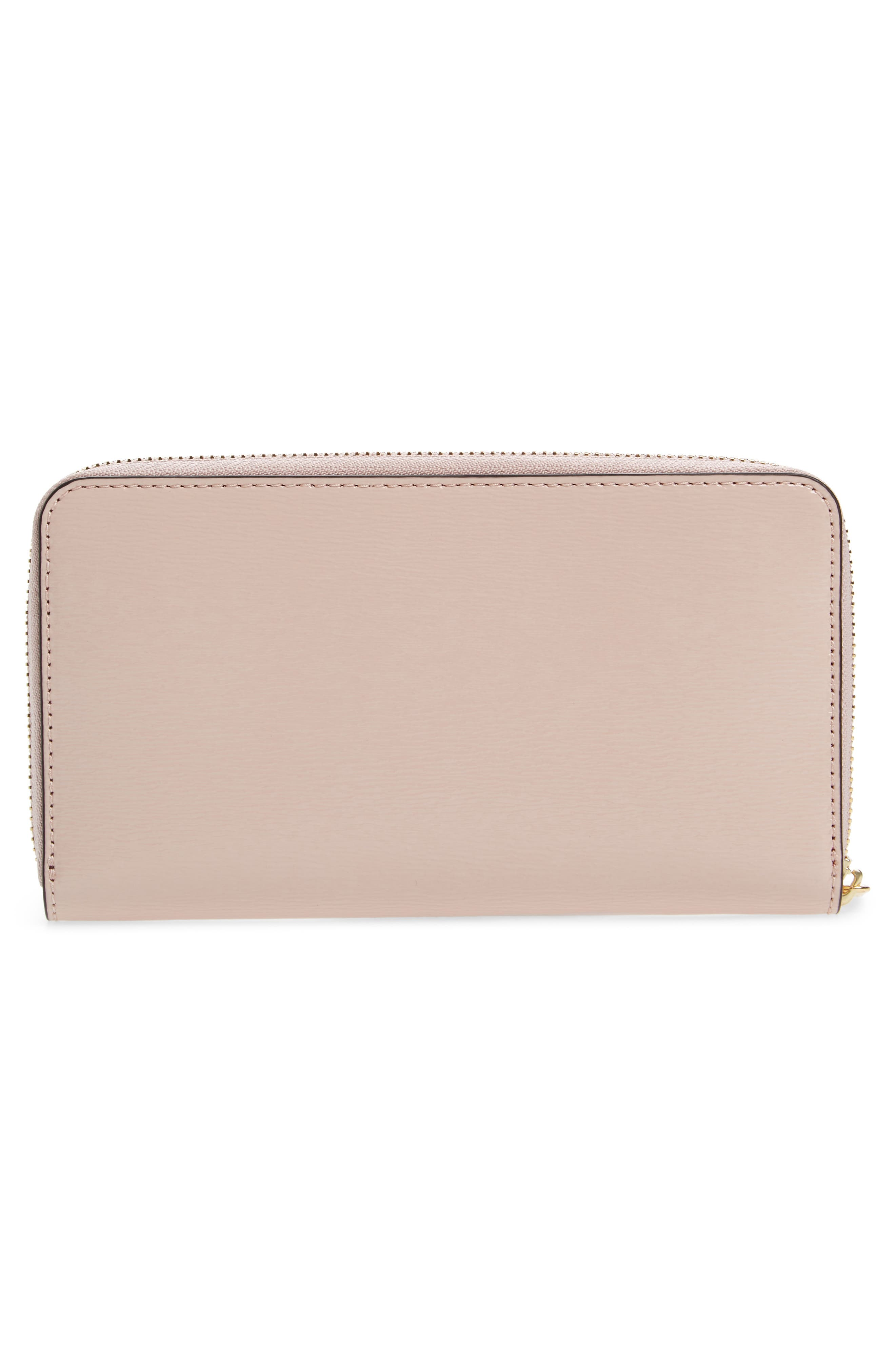 Robinson Patent Leather Continental Wallet,                             Alternate thumbnail 2, color,                             Shell Pink