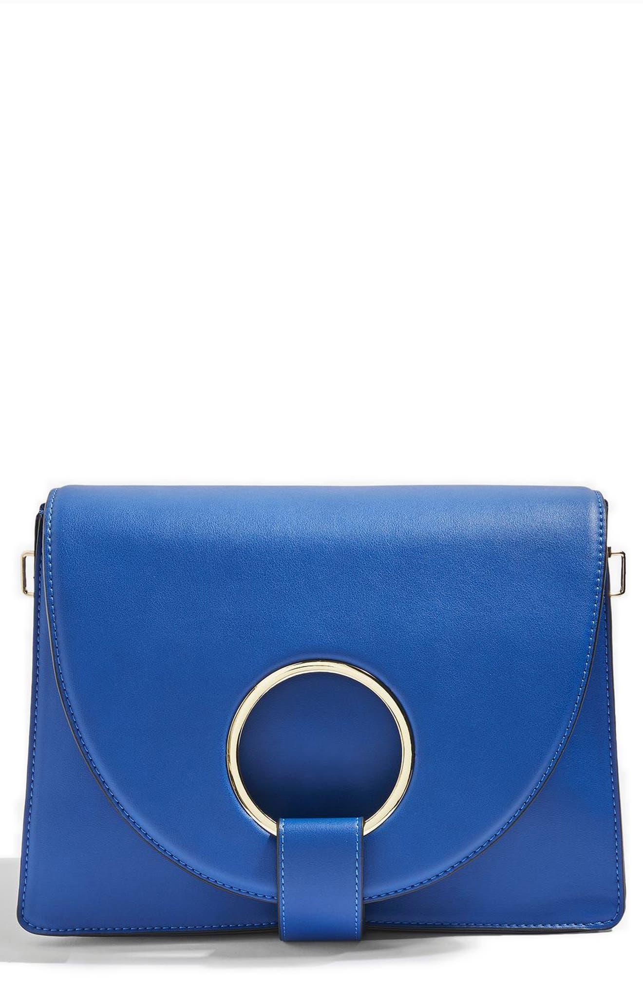 Shay Ring Shoulder Bag,                             Alternate thumbnail 3, color,                             Blue