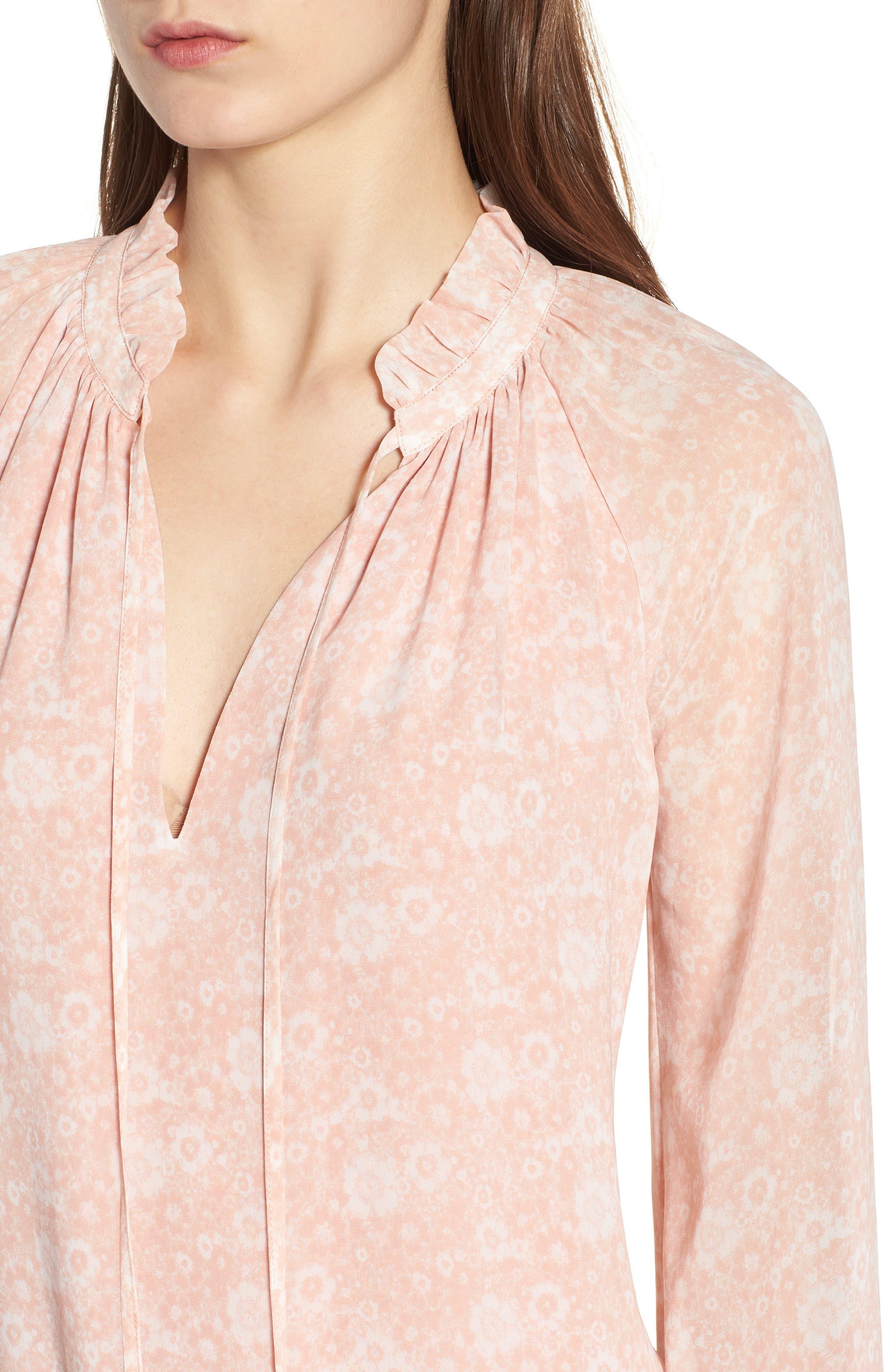 Dylan Drop Waist Dress,                             Alternate thumbnail 4, color,                             Light Pink Multi