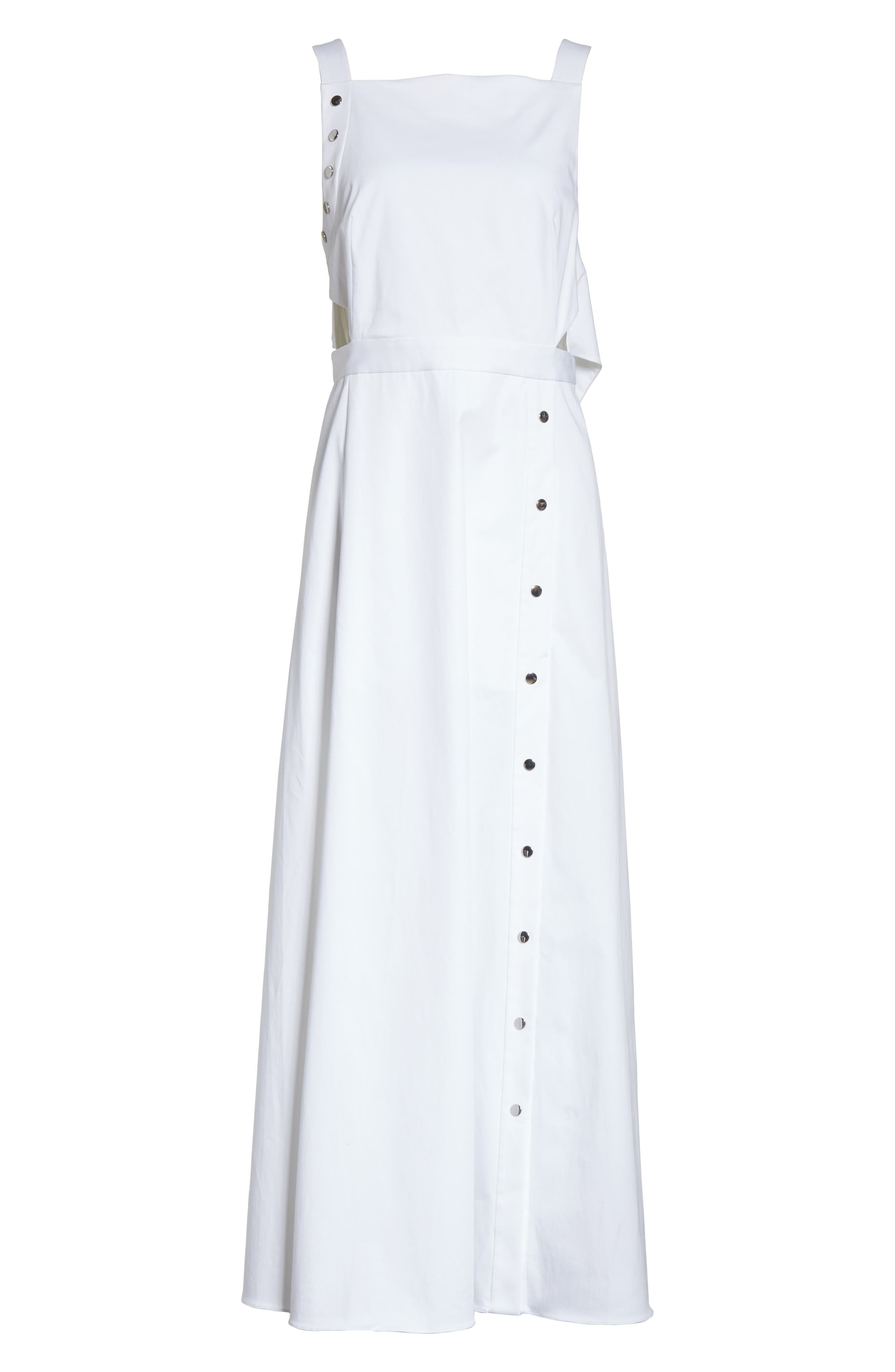 Crosby Snap Strappy Dress,                             Alternate thumbnail 8, color,                             White