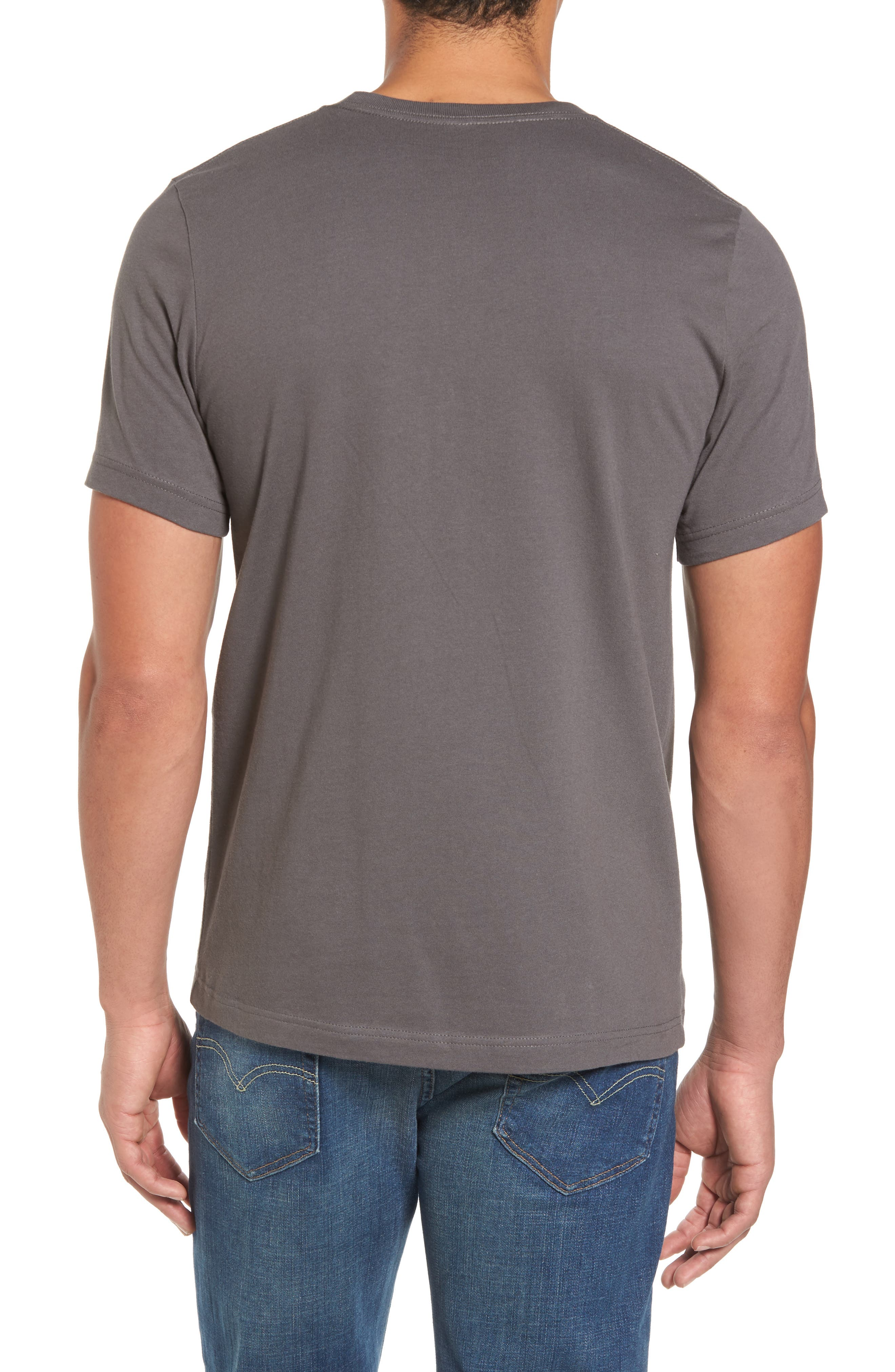Textured Camo Graphic T-Shirt,                             Alternate thumbnail 2, color,                             Grey