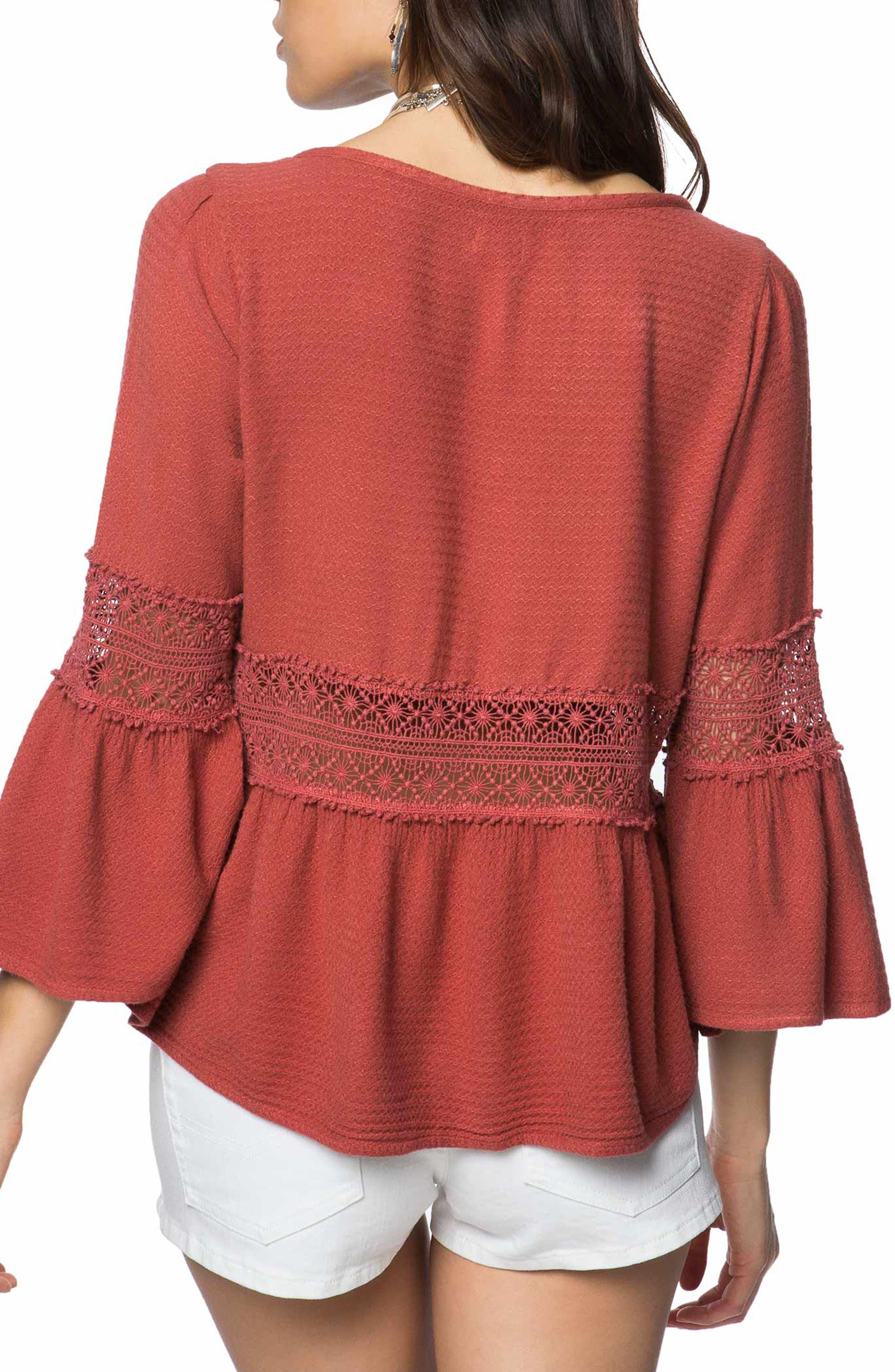 Utah Crochet Top,                             Alternate thumbnail 2, color,                             Burnt Henna