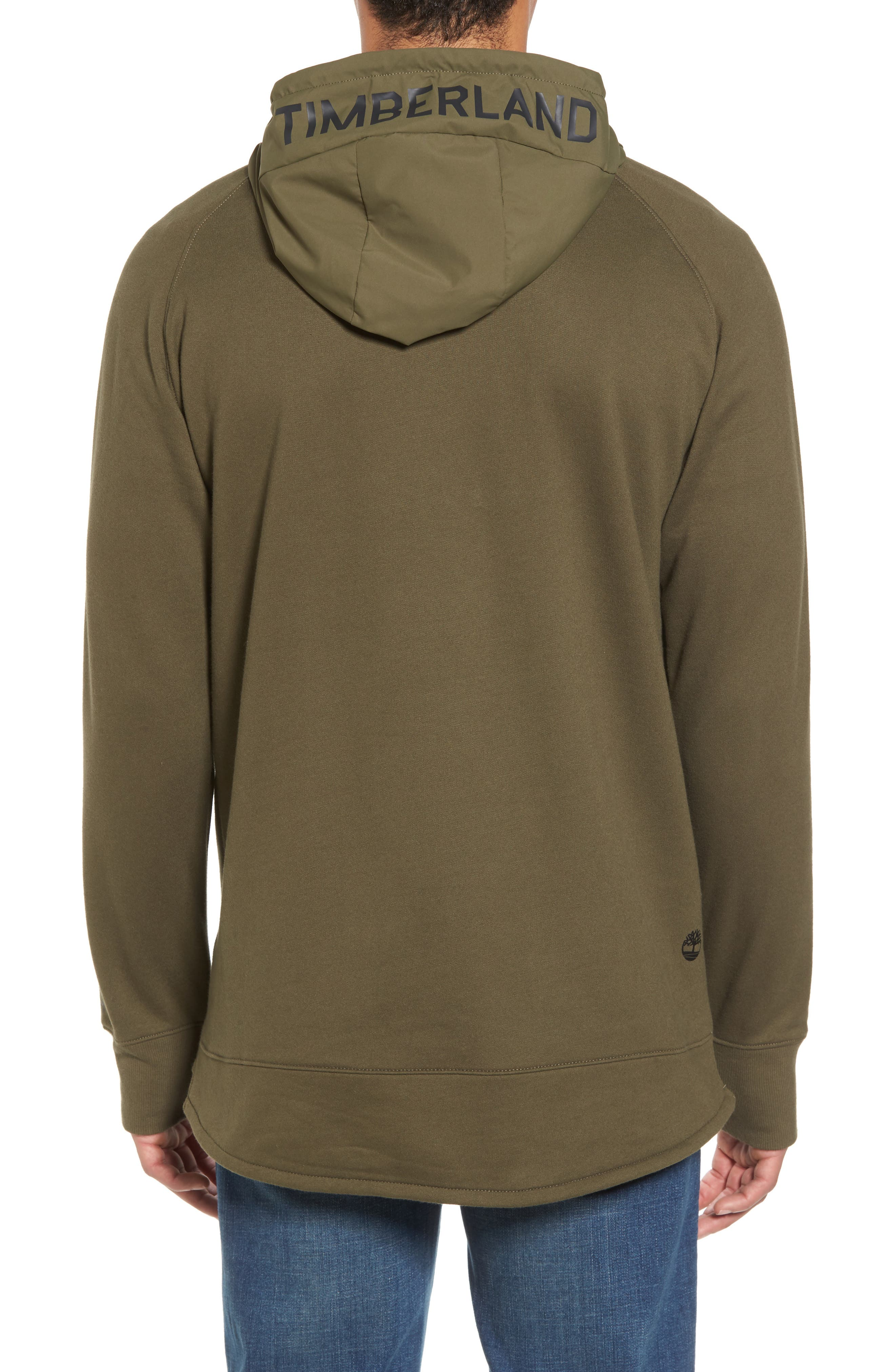 Mixed Media Oversize Hoodie,                             Alternate thumbnail 2, color,                             Olive Night