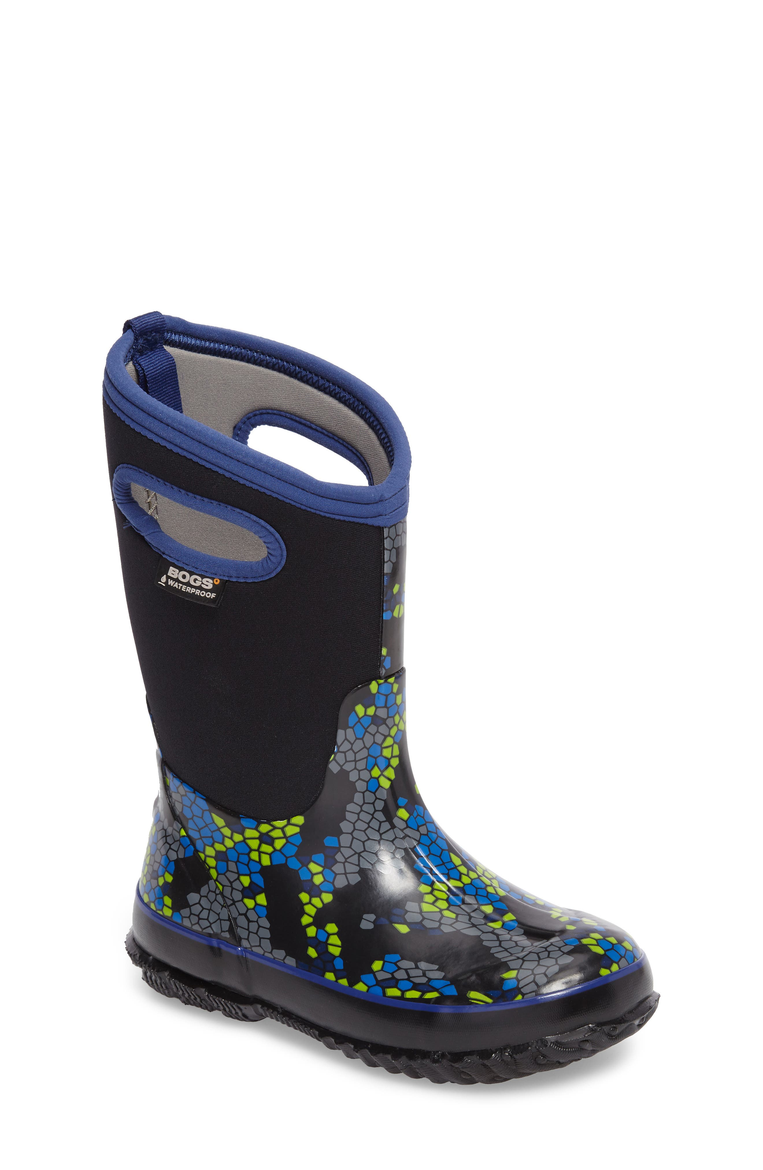 Classic Axel Insulated Waterproof Boot,                         Main,                         color, Black Multi