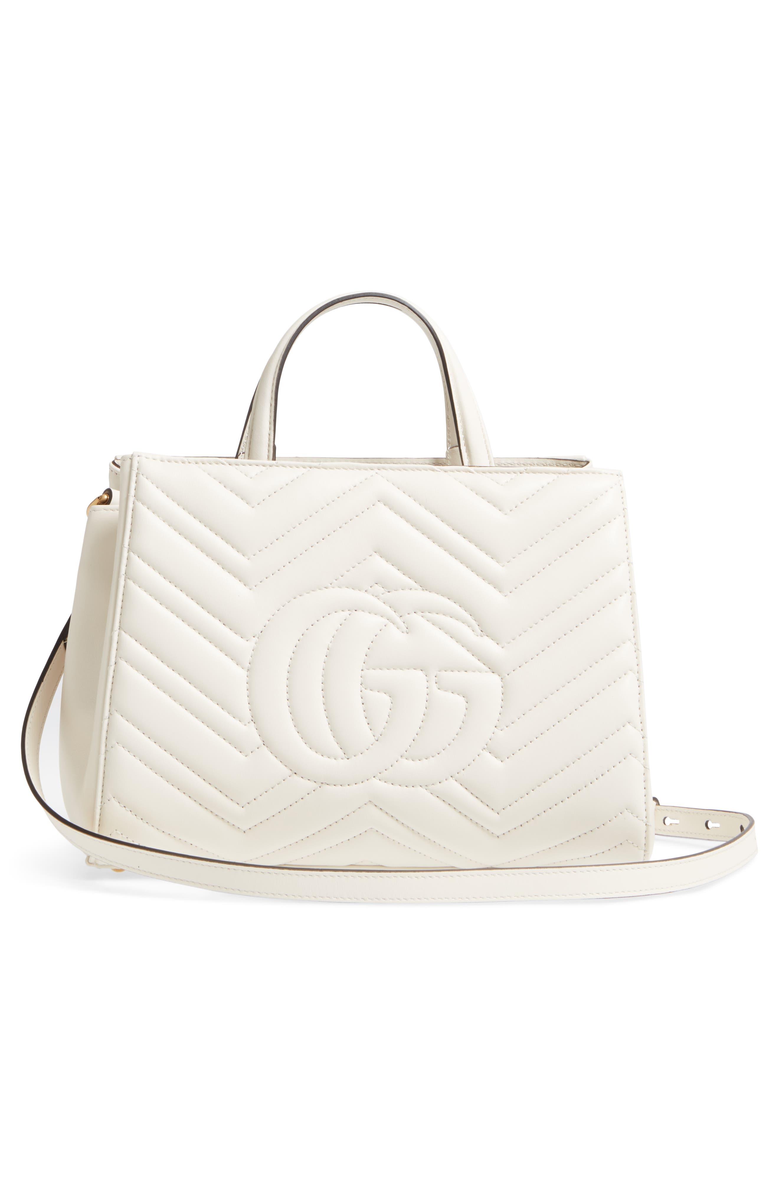 Alternate Image 3  - Gucci GG Small Marmont 2.0 Matelassé Leather Top Handle Satchel