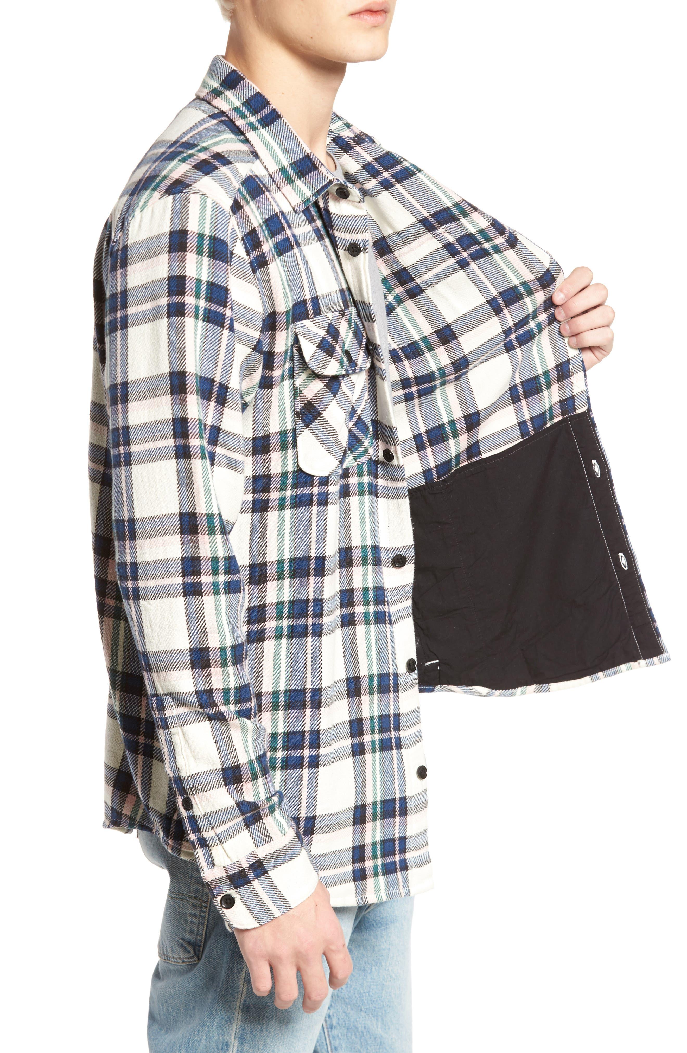 Camino Flannel Shirt,                             Alternate thumbnail 3, color,                             Multi Beige