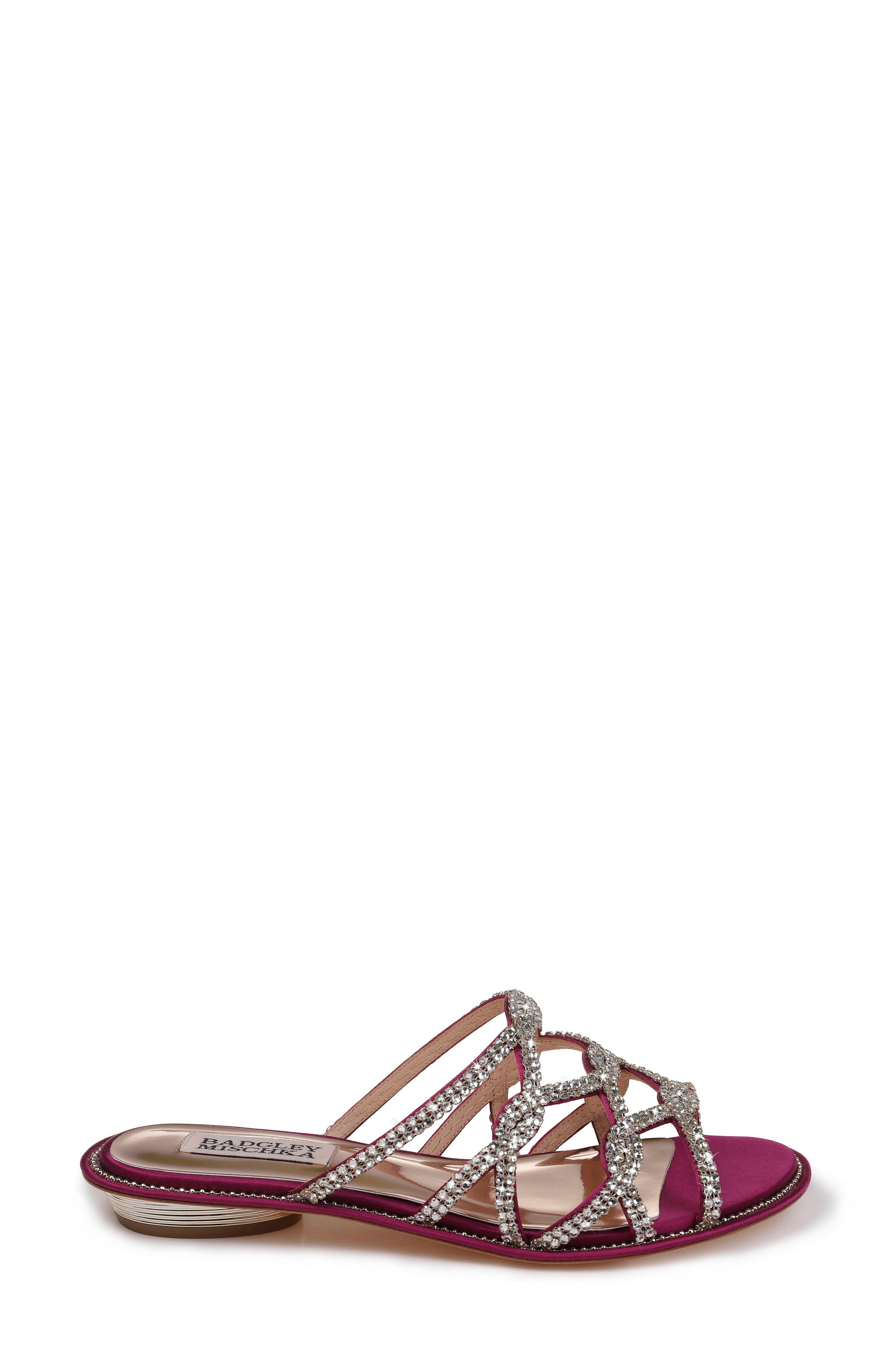 Sofie Strappy Sandal,                             Alternate thumbnail 3, color,                             Mulberry Satin