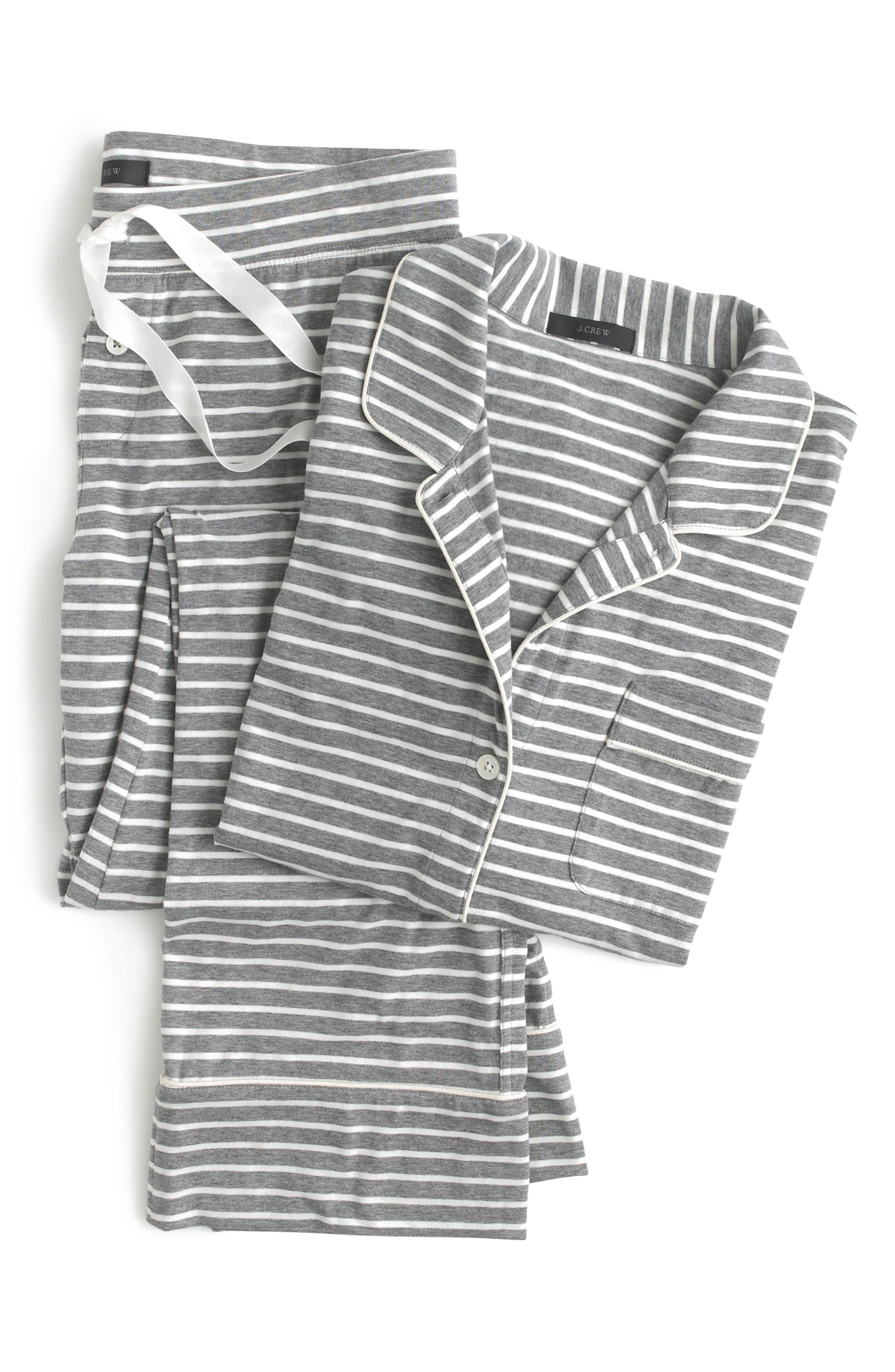 J.Crew Dreamy Stripe Cotton Pajamas