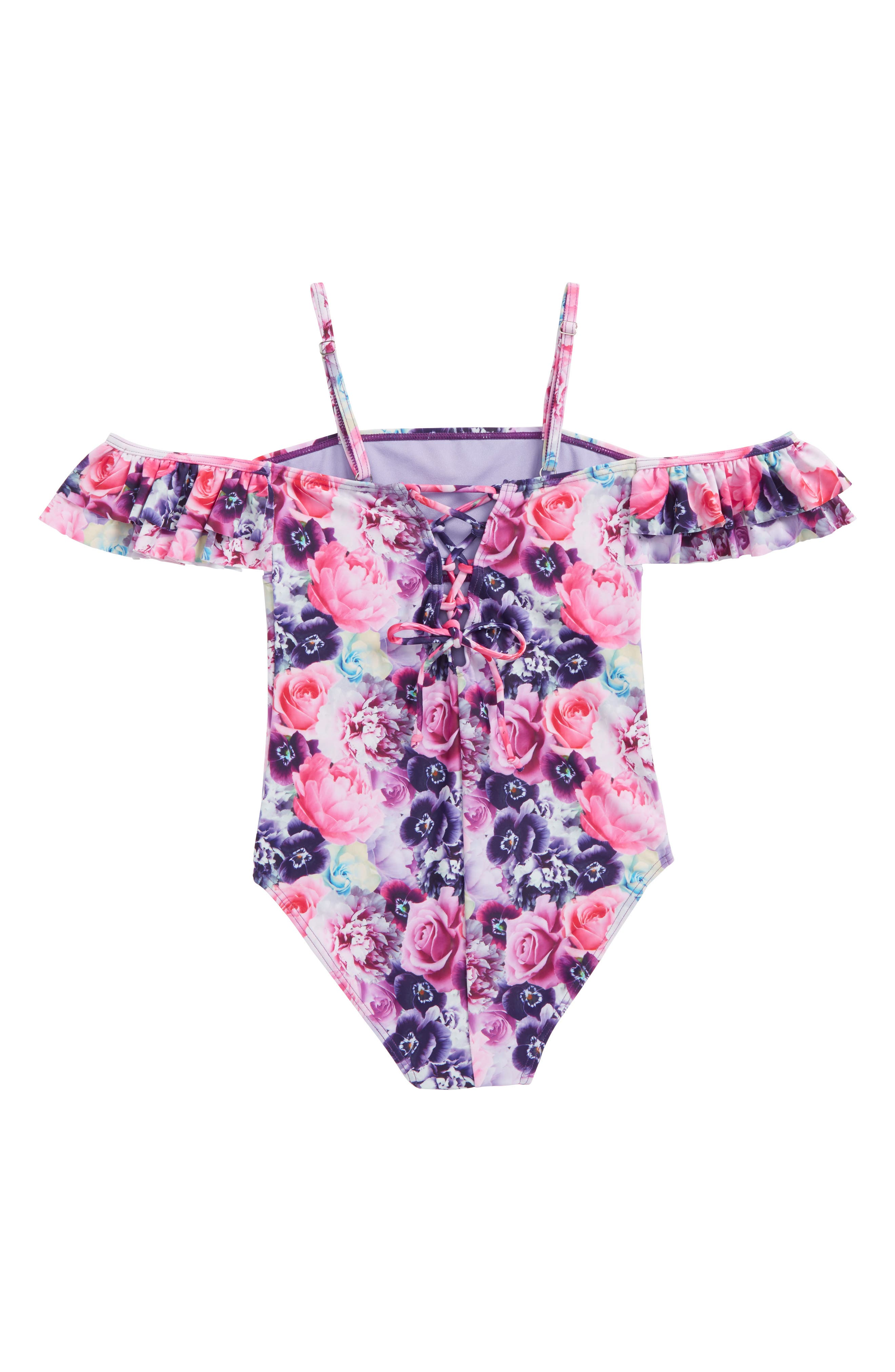 Glam Squad One-Piece Swimsuit,                             Alternate thumbnail 2, color,                             Multi Combo