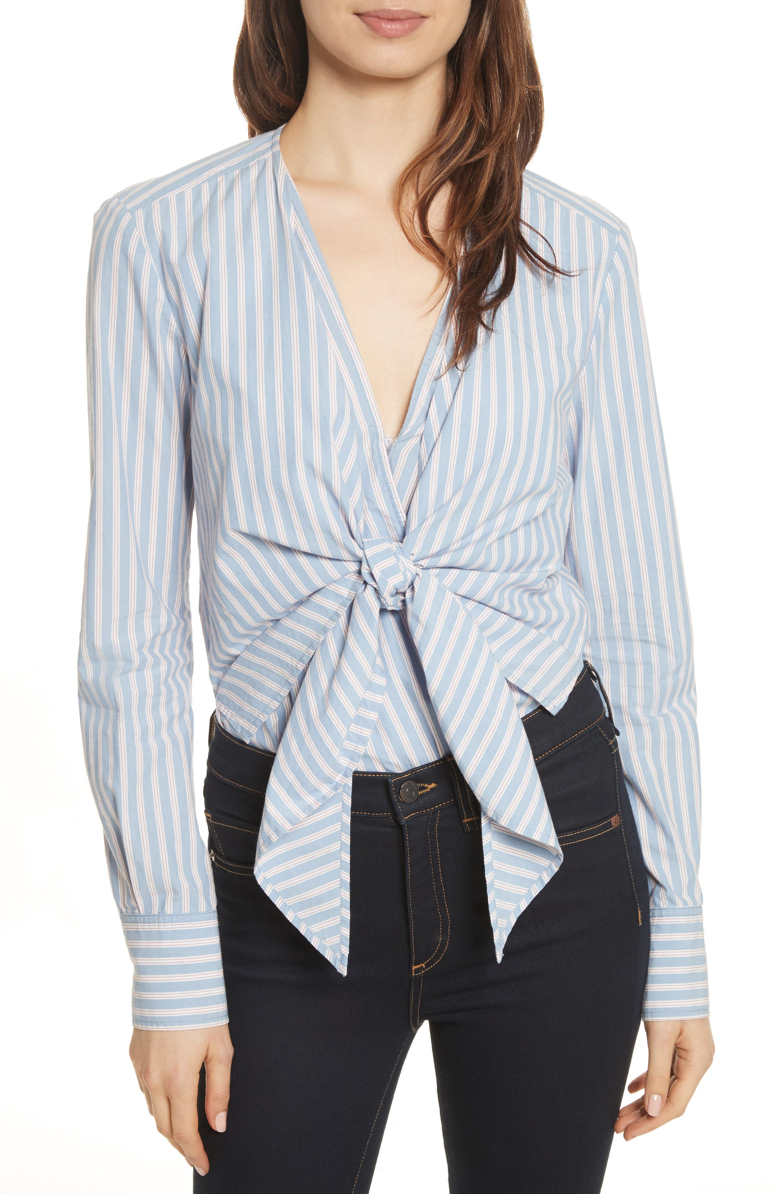 Veronica Beard Diana Stripe Bodysuit