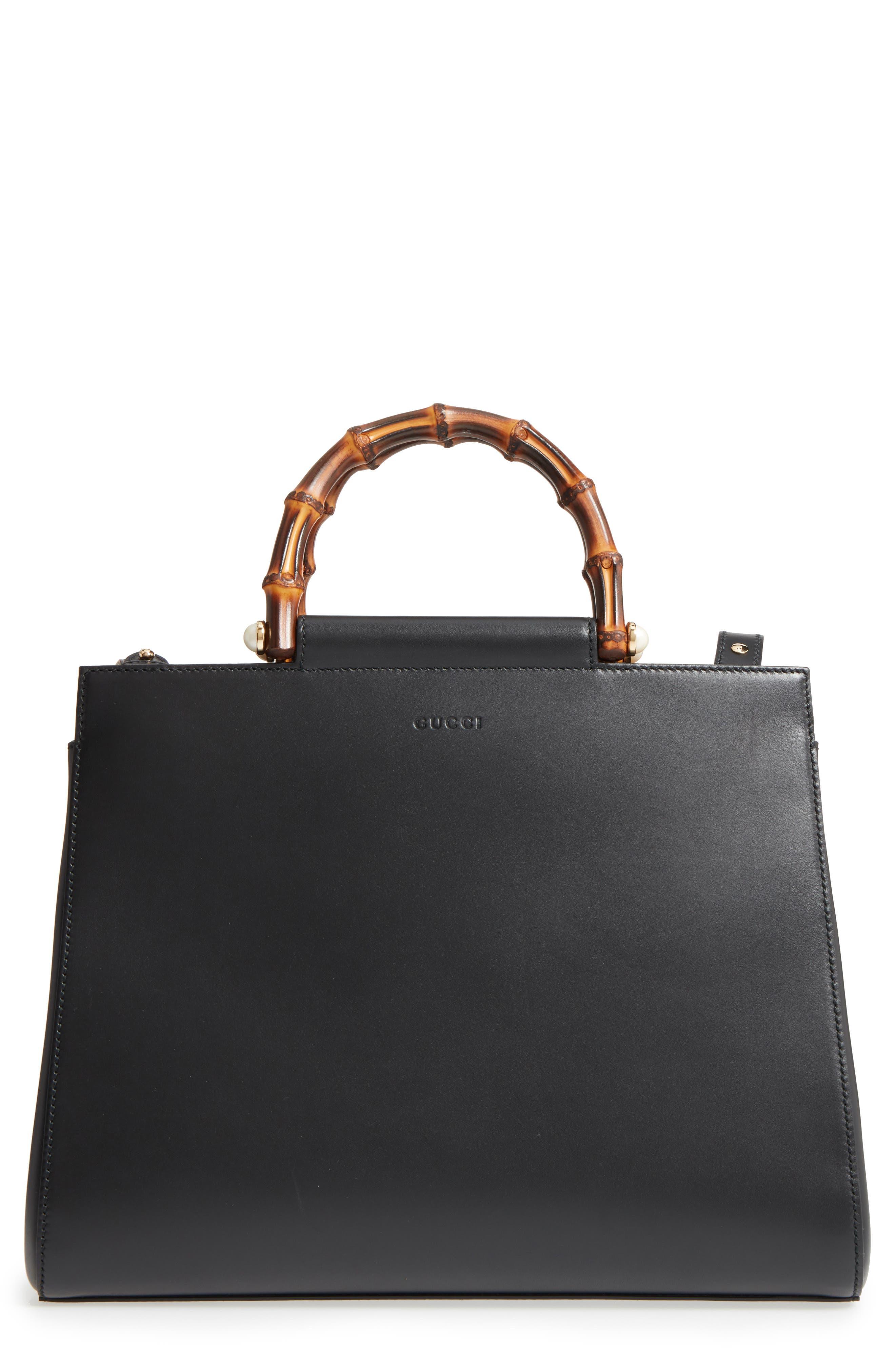 Gucci Medium Angel Leather Top Handle Satchel