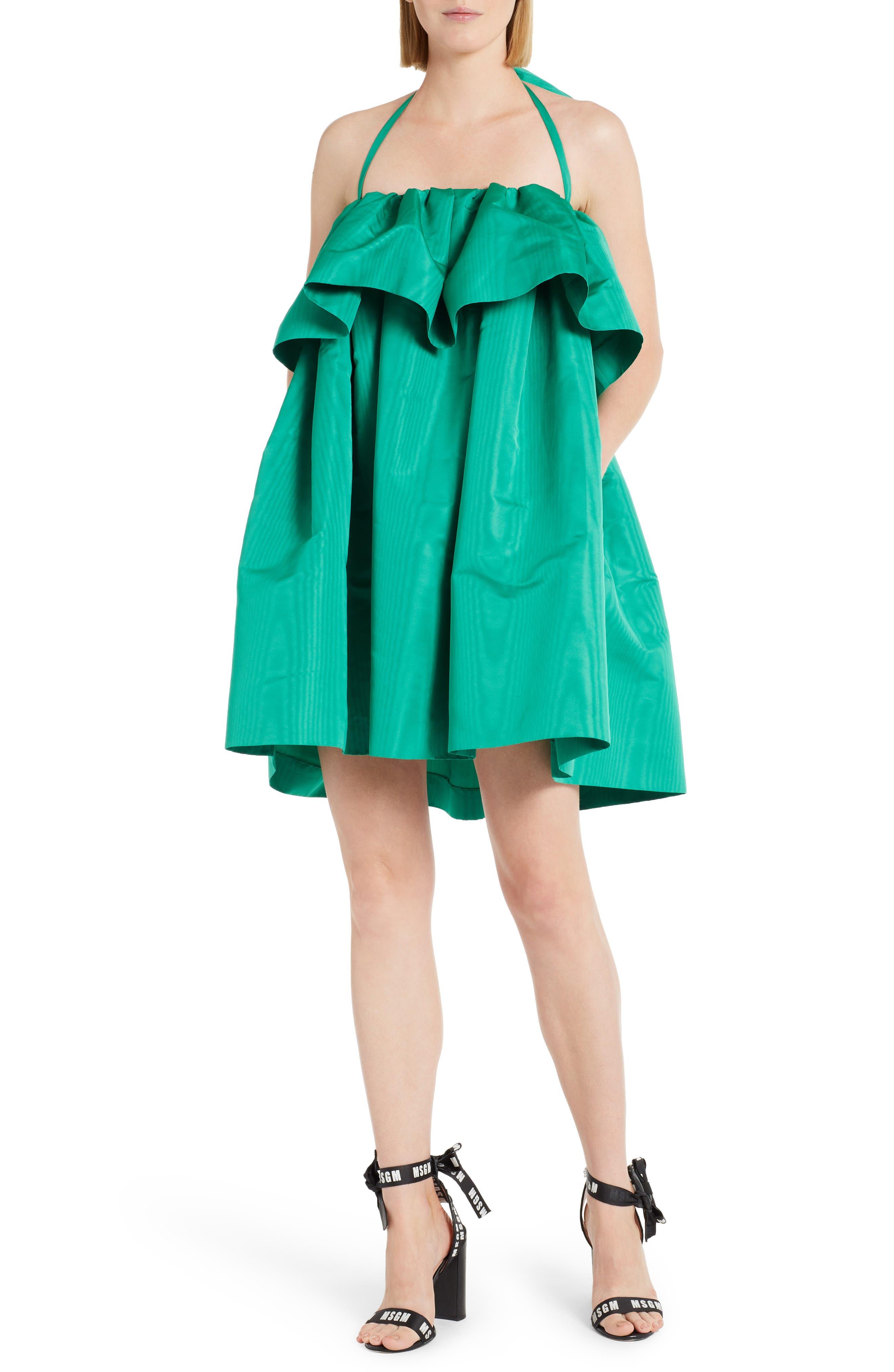Popover Halter Dress,                         Main,                         color, Green 36