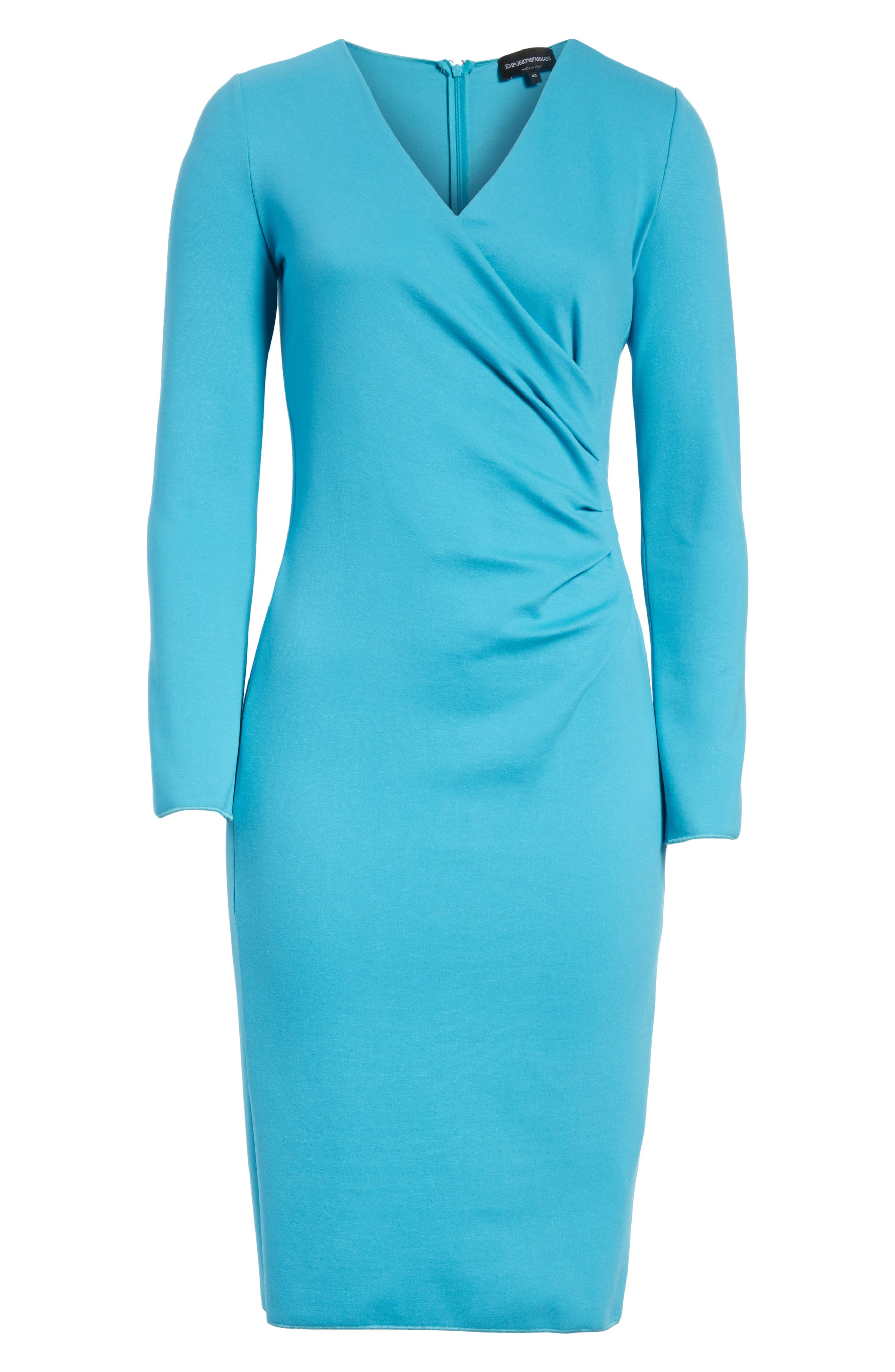 Alternate Image 5  - Emporio Armani Faux Wrap Side Pleat Dress