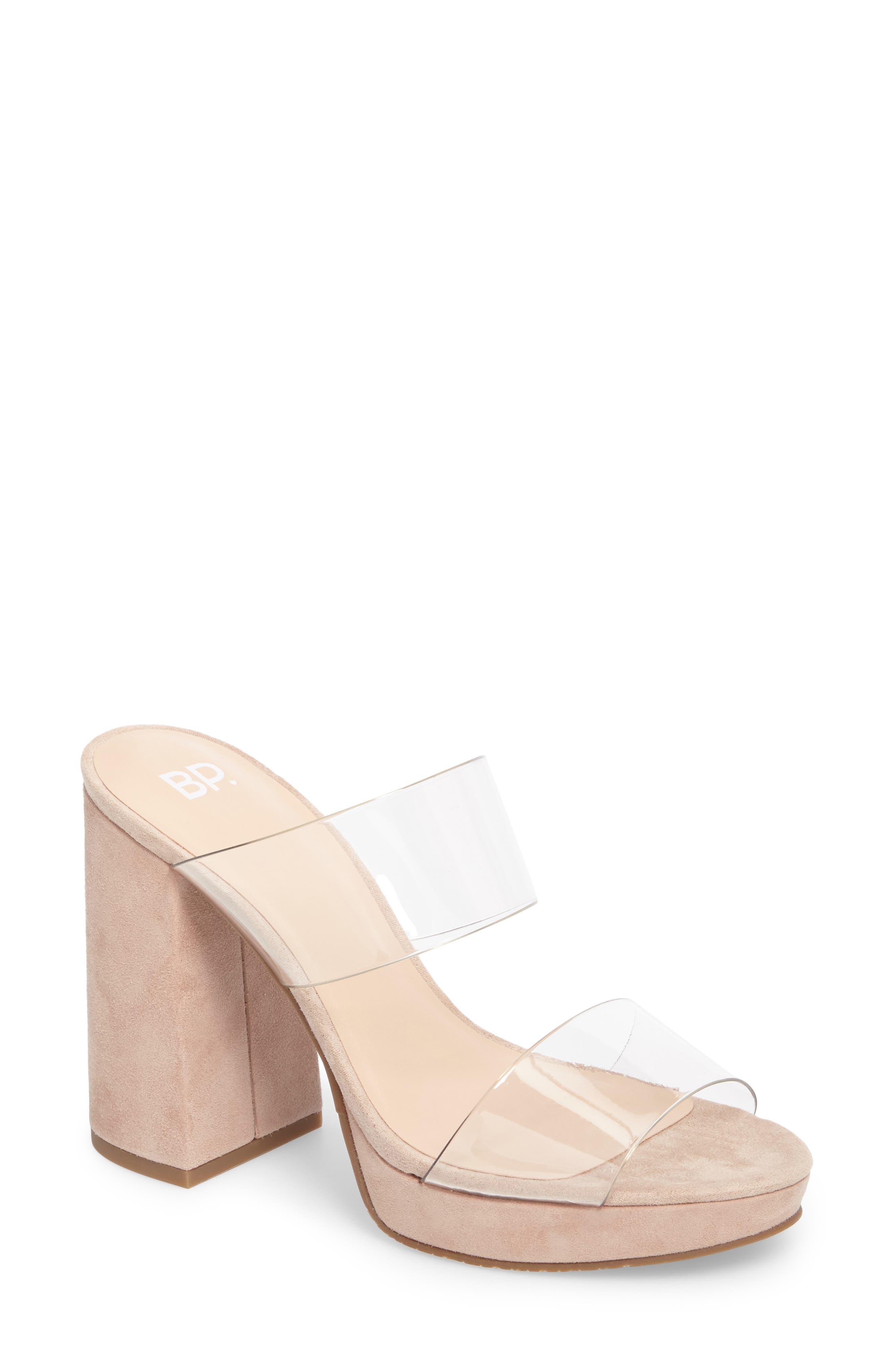 Sophia Platform Sandal,                             Main thumbnail 1, color,                             Blush
