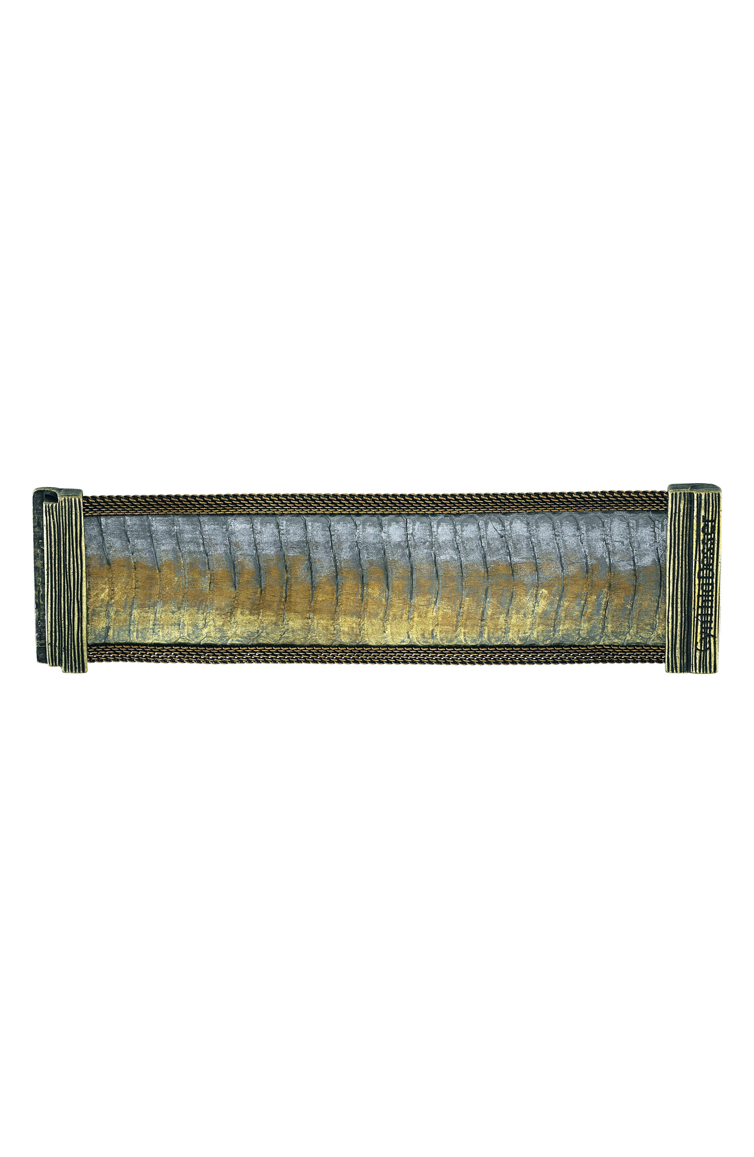 Snakeskin Bracelet,                             Alternate thumbnail 2, color,                             Gold/ Grey/ Bronze