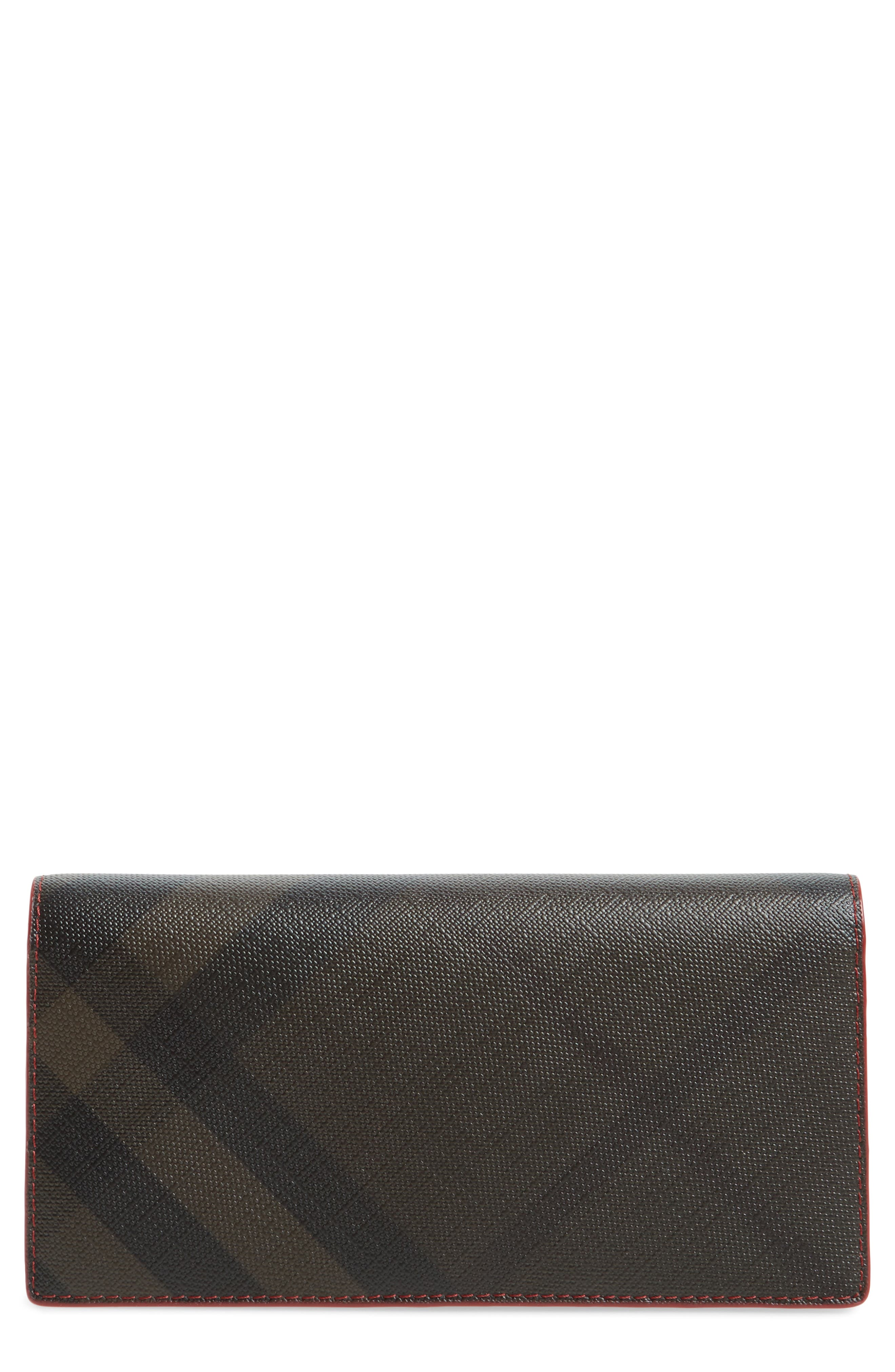 Check Wallet,                             Main thumbnail 1, color,                             Chocolate/ Red