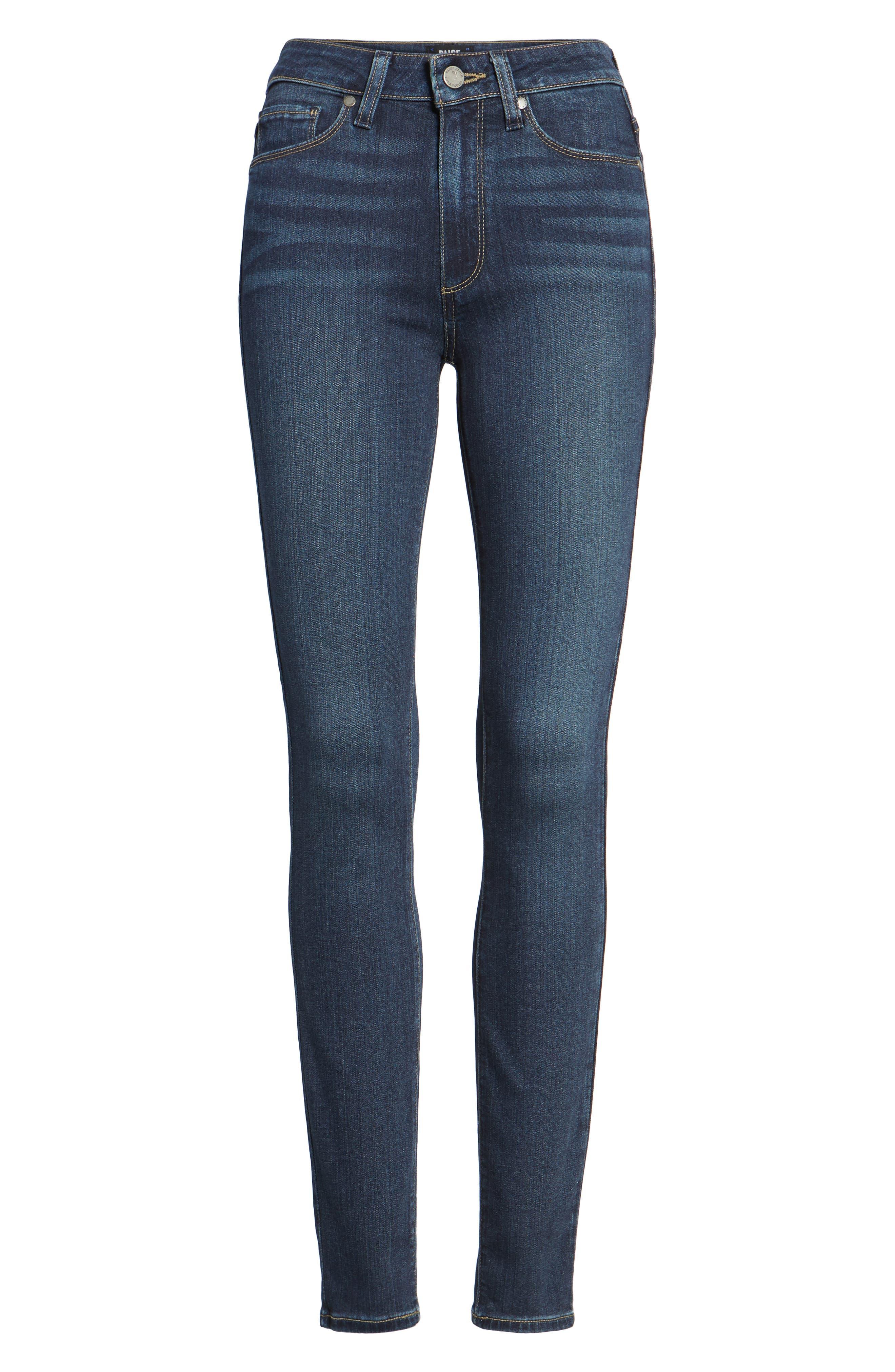 Transcend - Hoxton High Waist Ultra Skinny Jeans,                             Alternate thumbnail 8, color,                             Nottingham