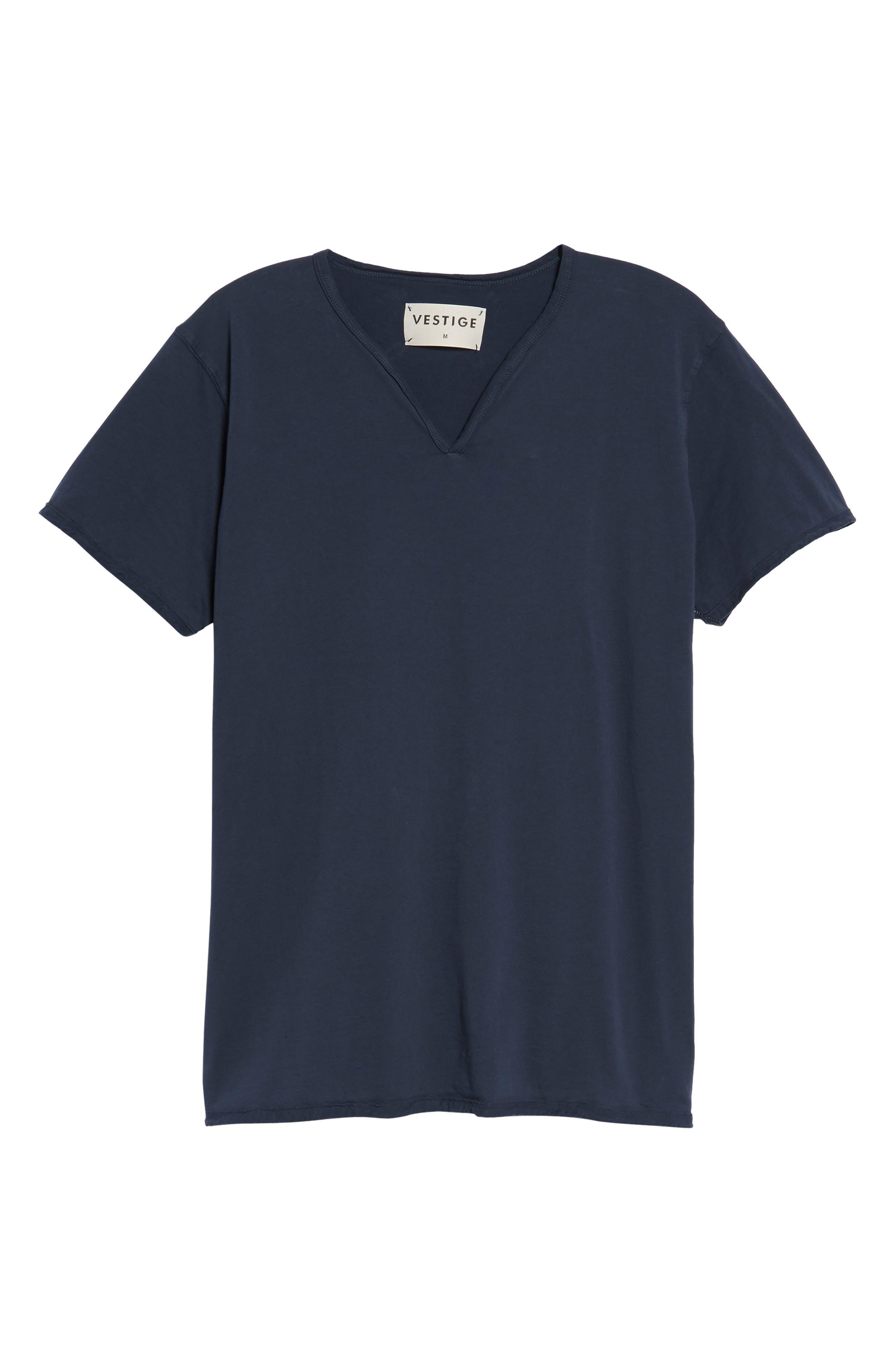 Notch Henley T-Shirt,                             Alternate thumbnail 6, color,                             Vintage Navy