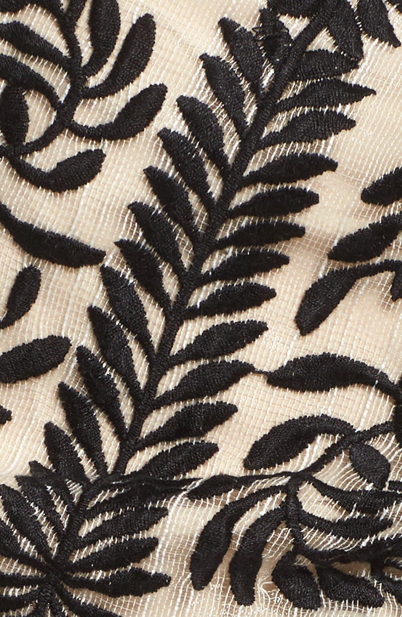 Soiree Ruffle Miniskirt,                             Alternate thumbnail 6, color,                             Black